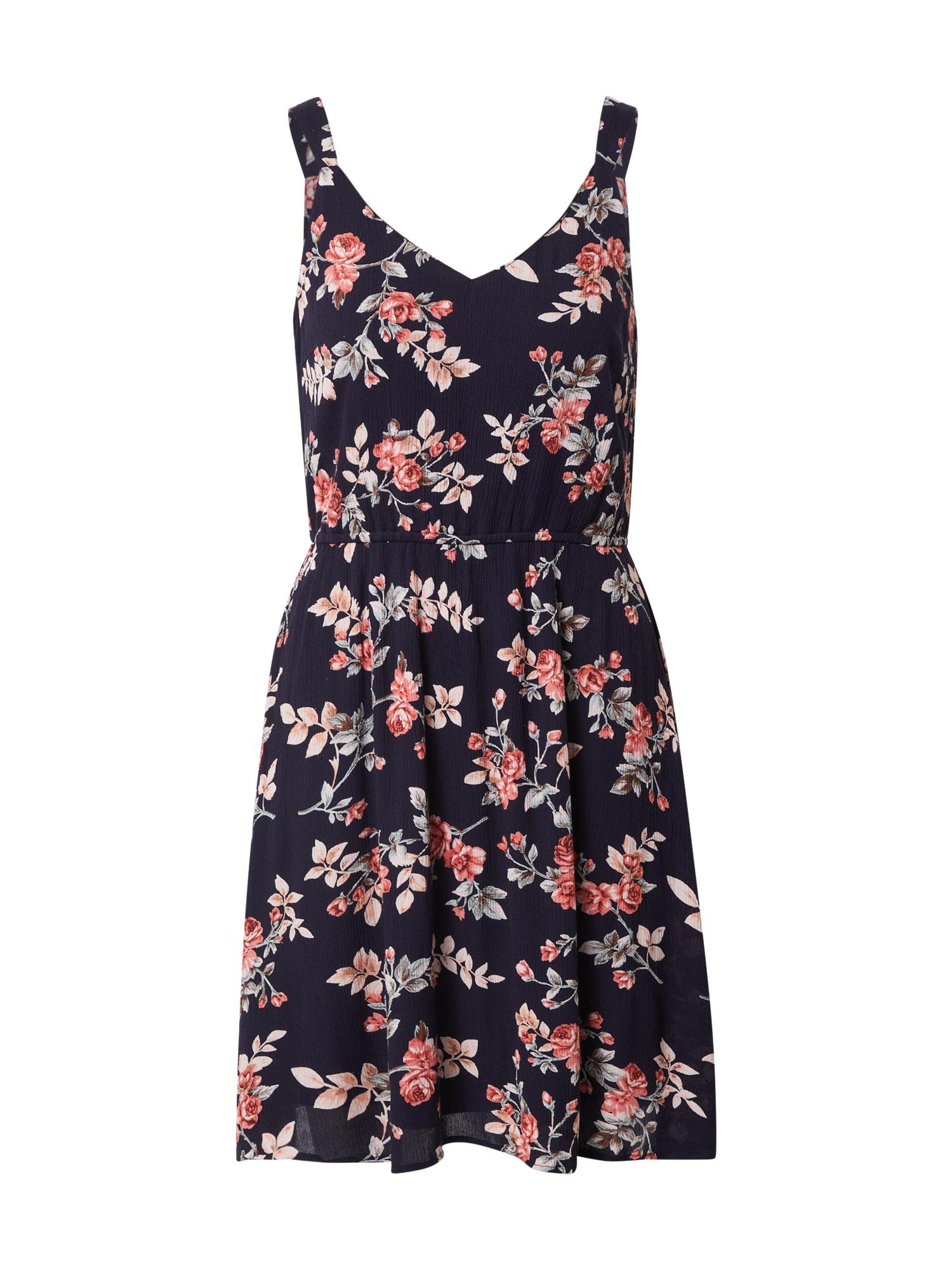 ONLY Letní šaty  tmavě modrá / korálová / béžová / khaki