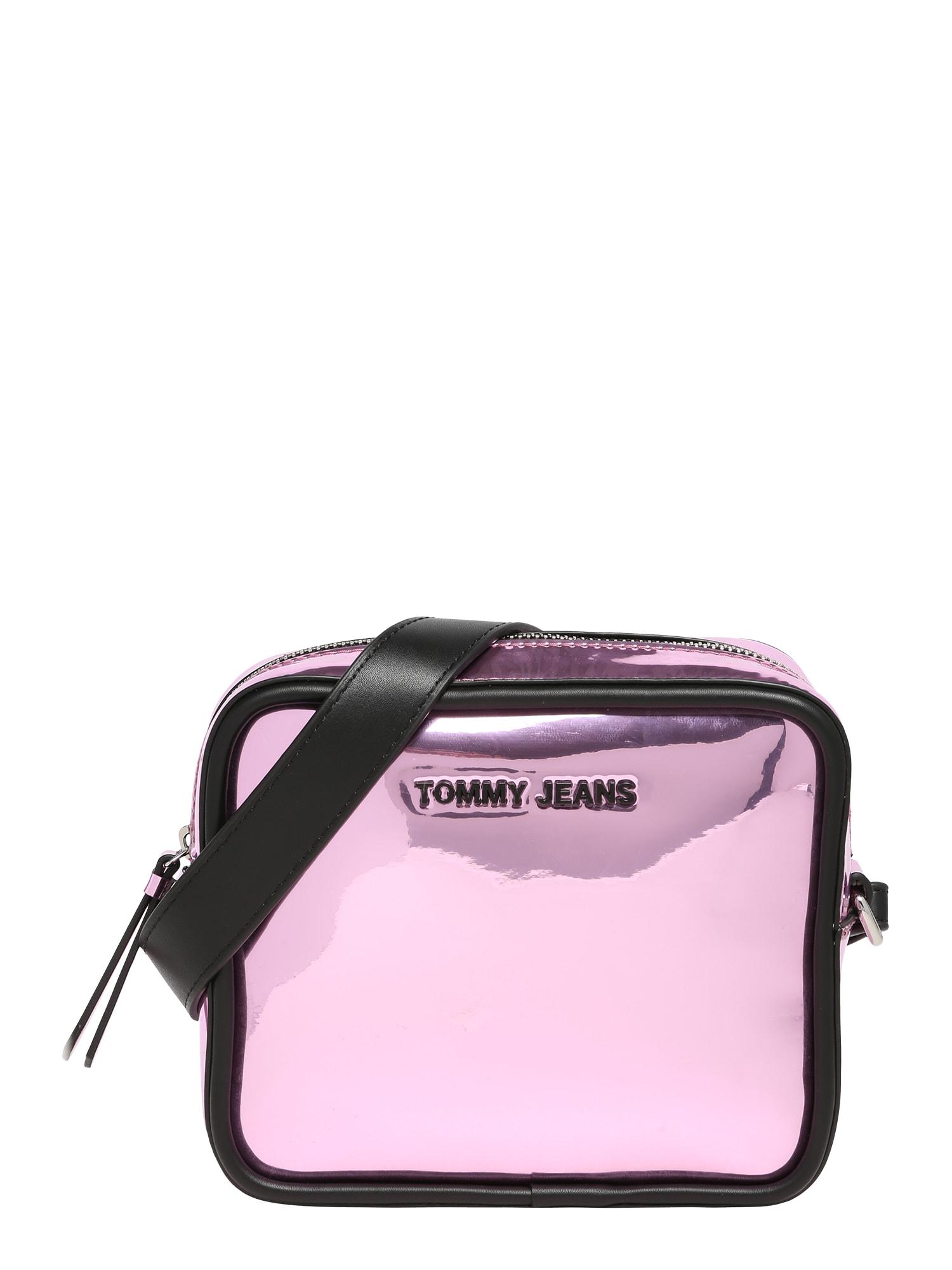 Tommy Jeans Kabelka na rameno  ružová / čierna
