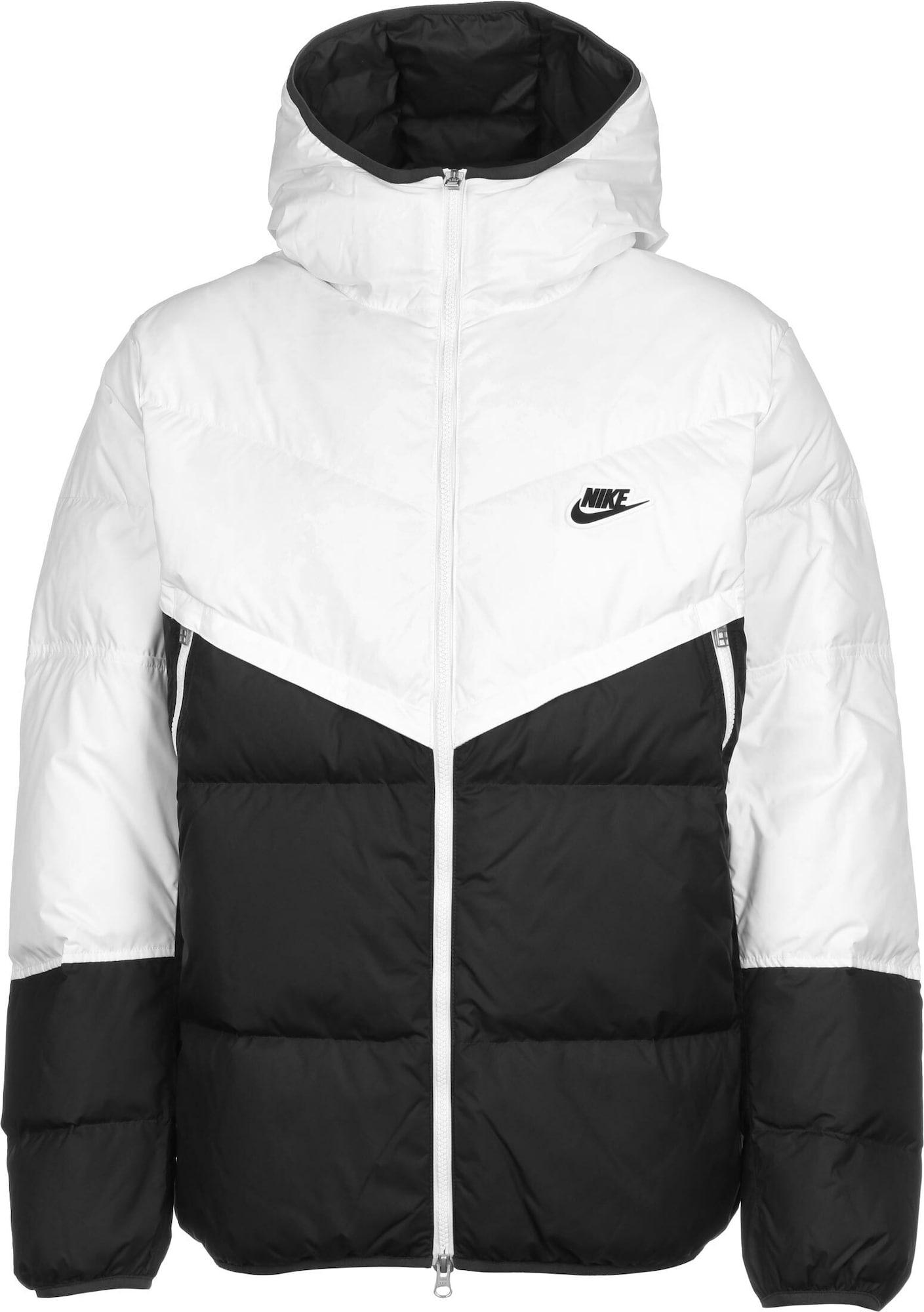 Nike Sportswear Žieminė striukė 'Fill Shield' juoda / balta
