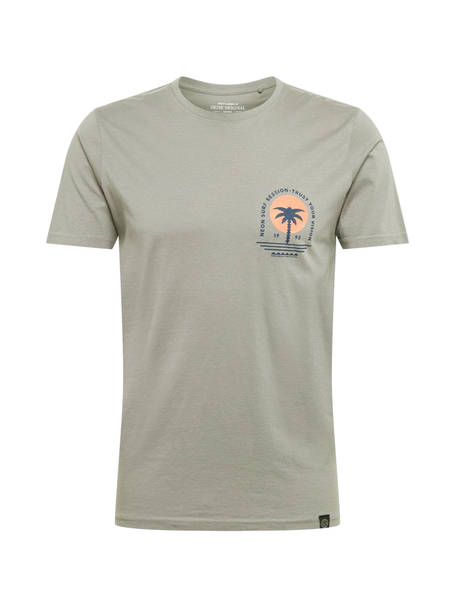 SHINE ORIGINAL Marškinėliai lašišų spalva / tamsiai mėlyna jūros spalva / nendrių spalva