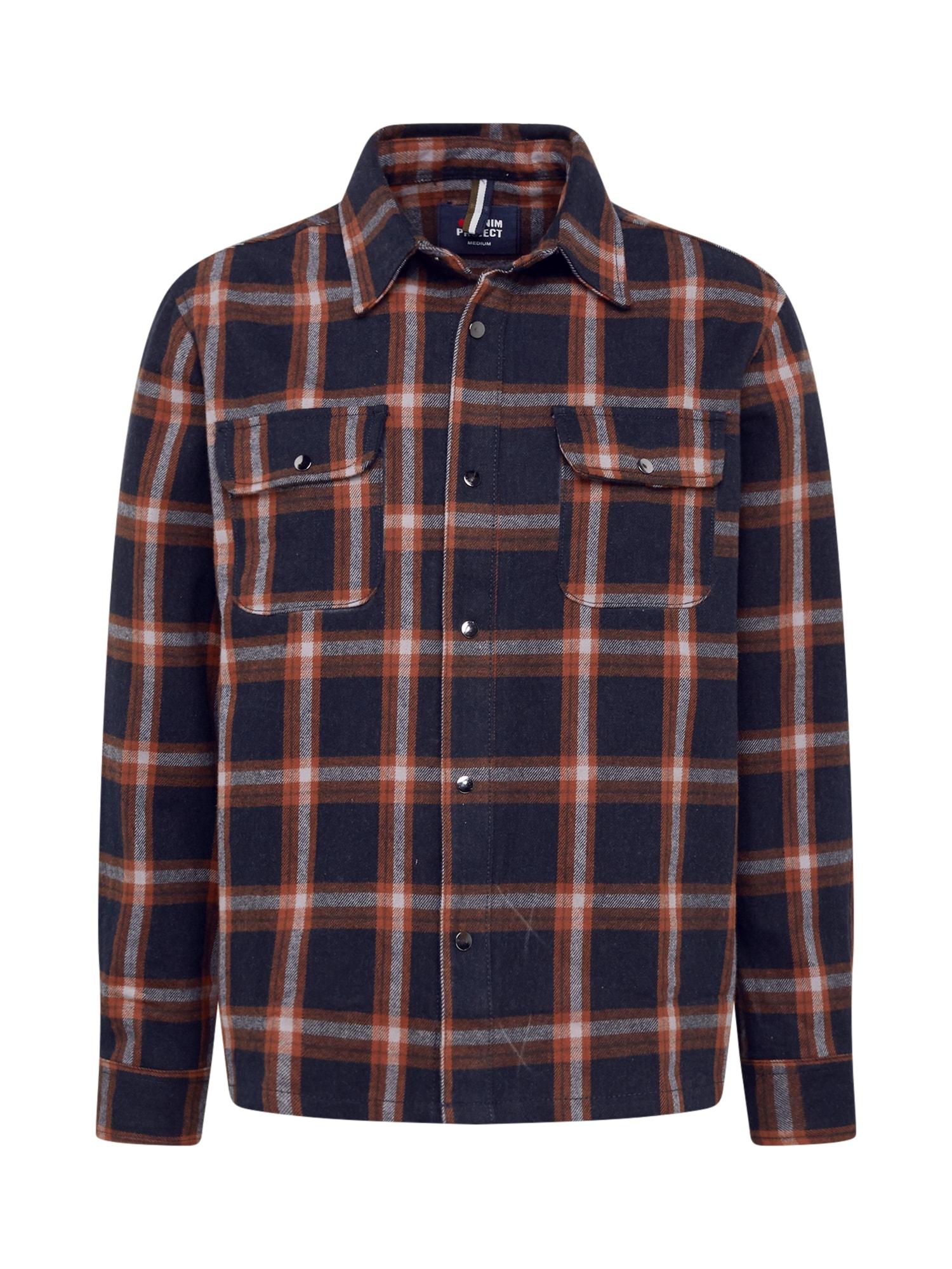 Denim Project Marškiniai šviesiai pilka / rusva / juoda
