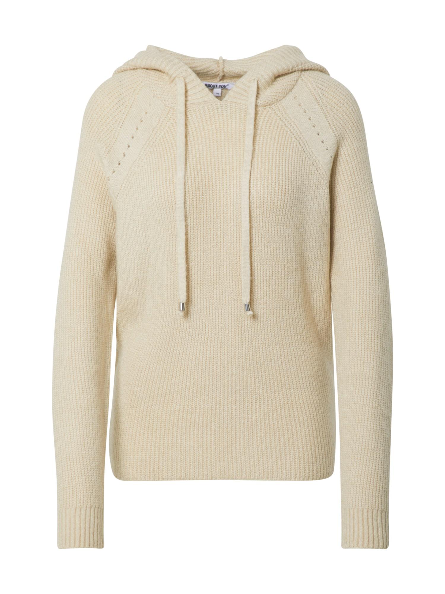 ABOUT YOU Megztinis 'Dakota' marga smėlio spalva