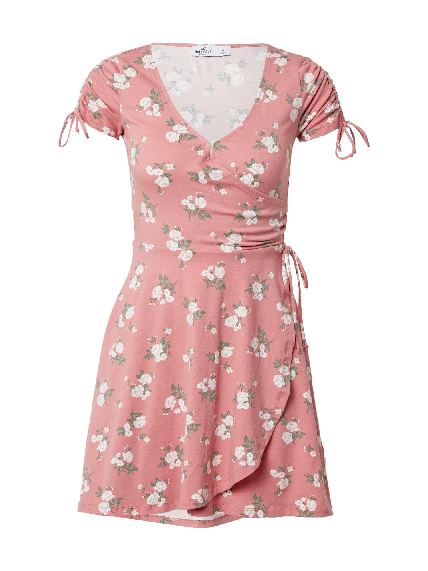 HOLLISTER Vasarinė suknelė rožinė / balta / žalia