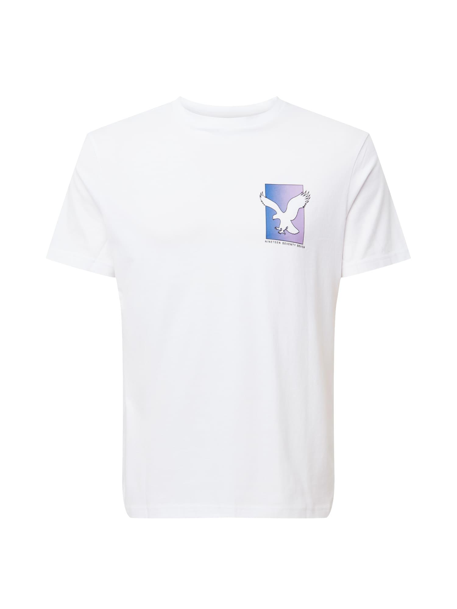 American Eagle Tričko  bílá / tmavě fialová / modrá