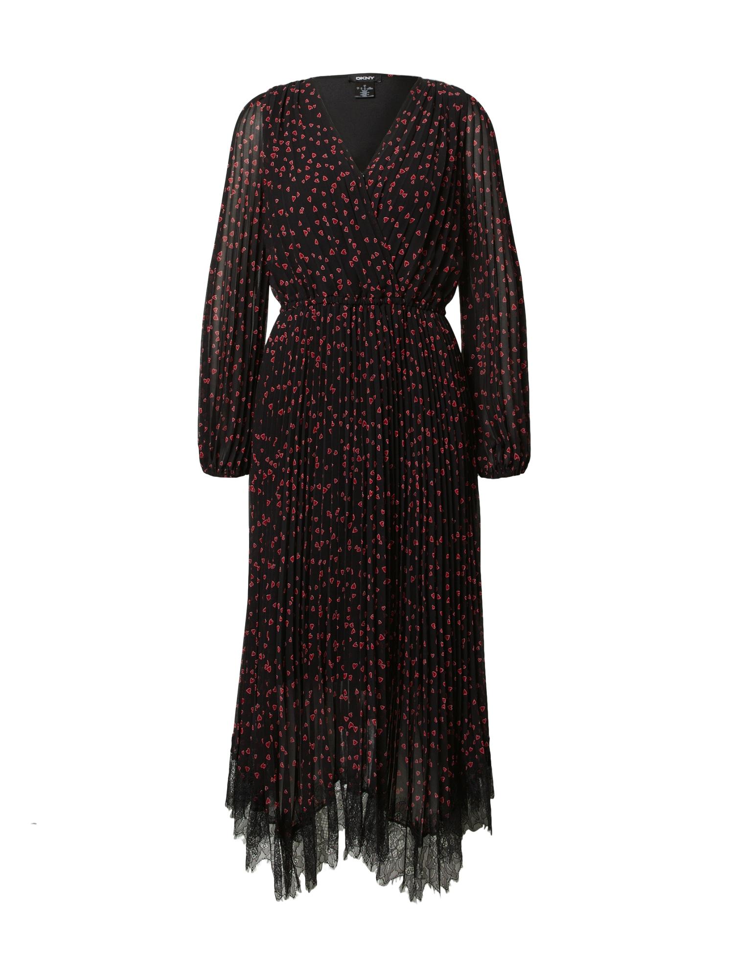 DKNY Kokteilinė suknelė juoda / raudona / balta