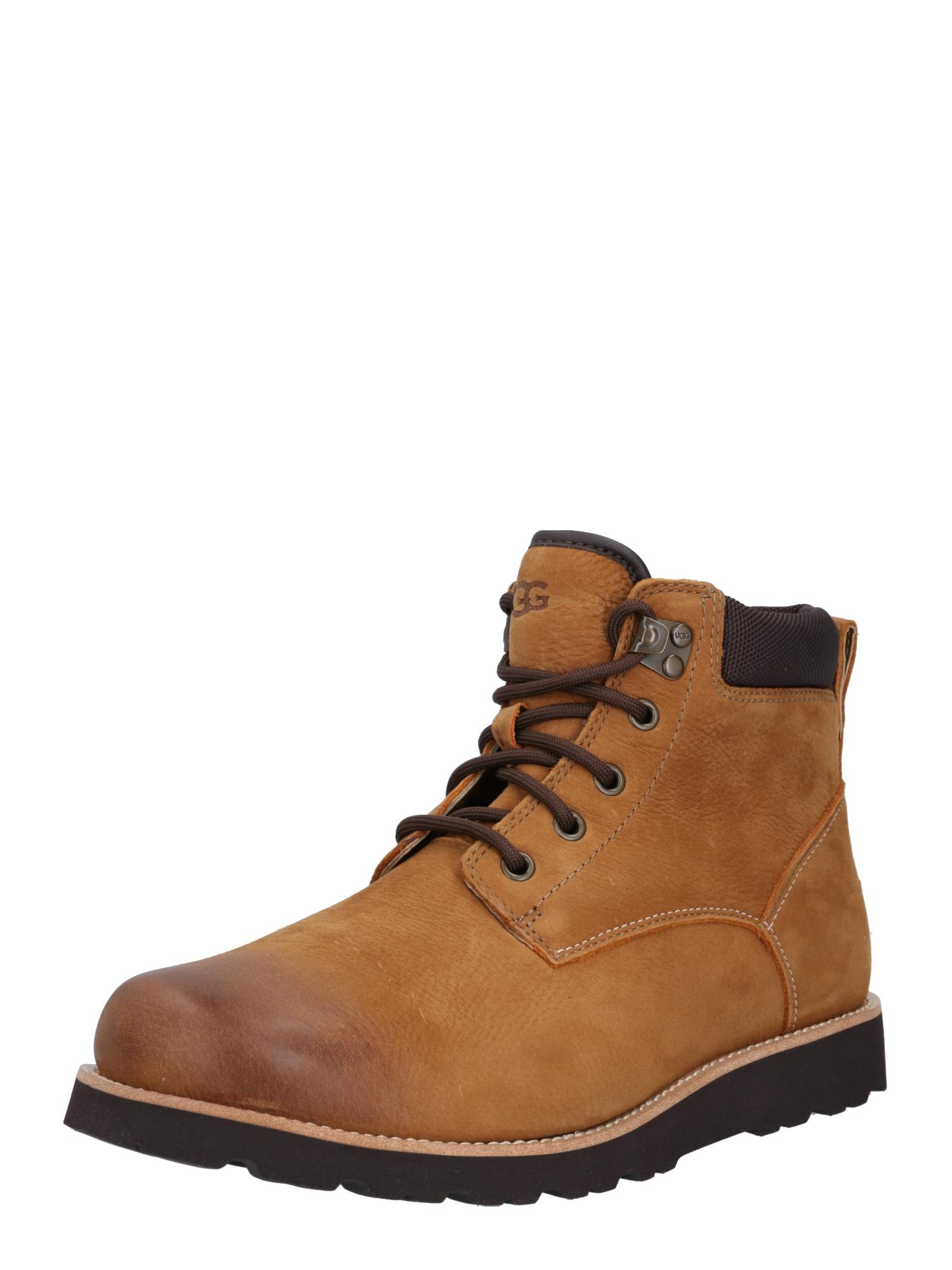 UGG Auliniai batai su raišteliais ruda (konjako)