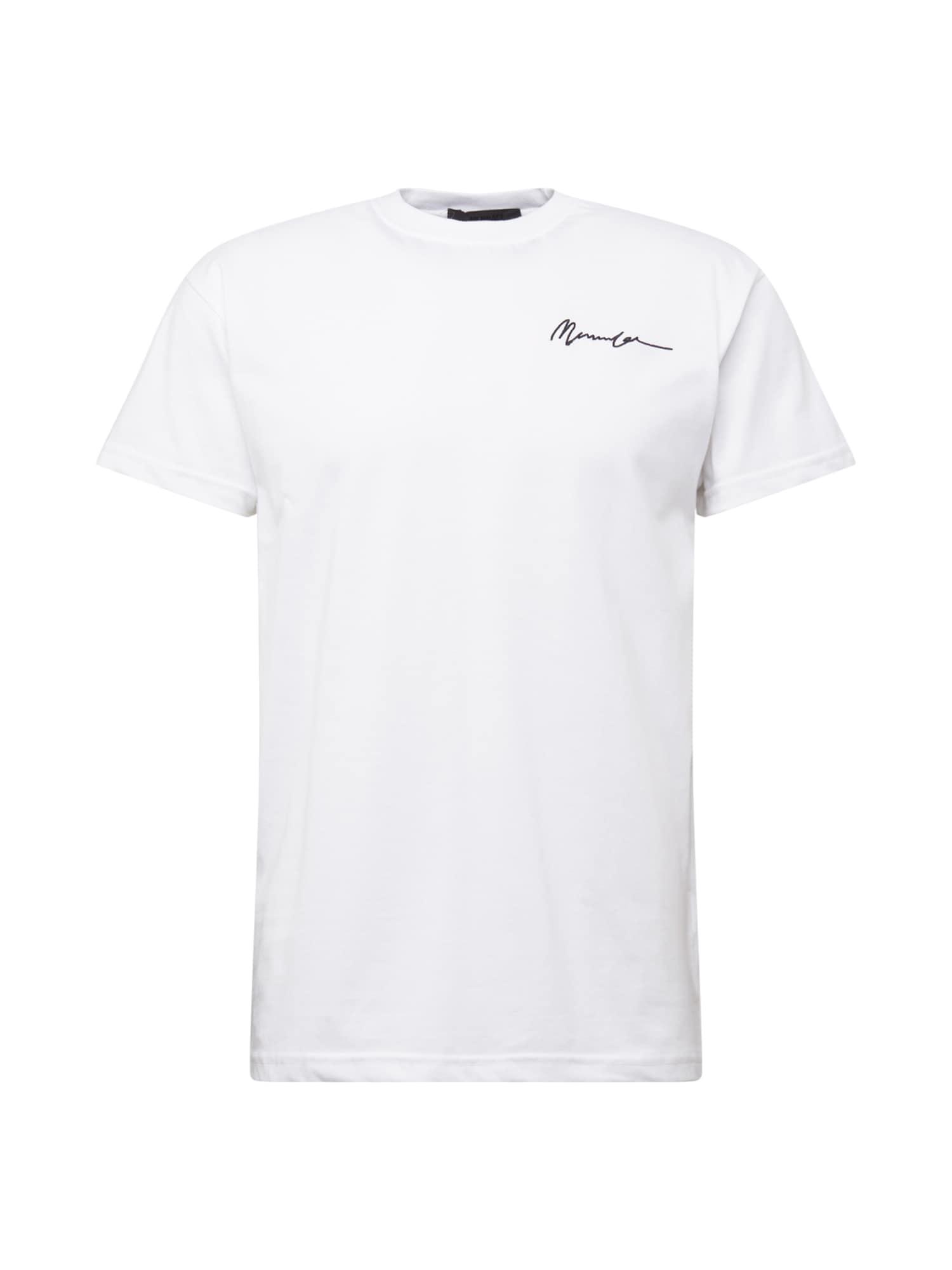 Mennace Marškinėliai balkšva / juoda