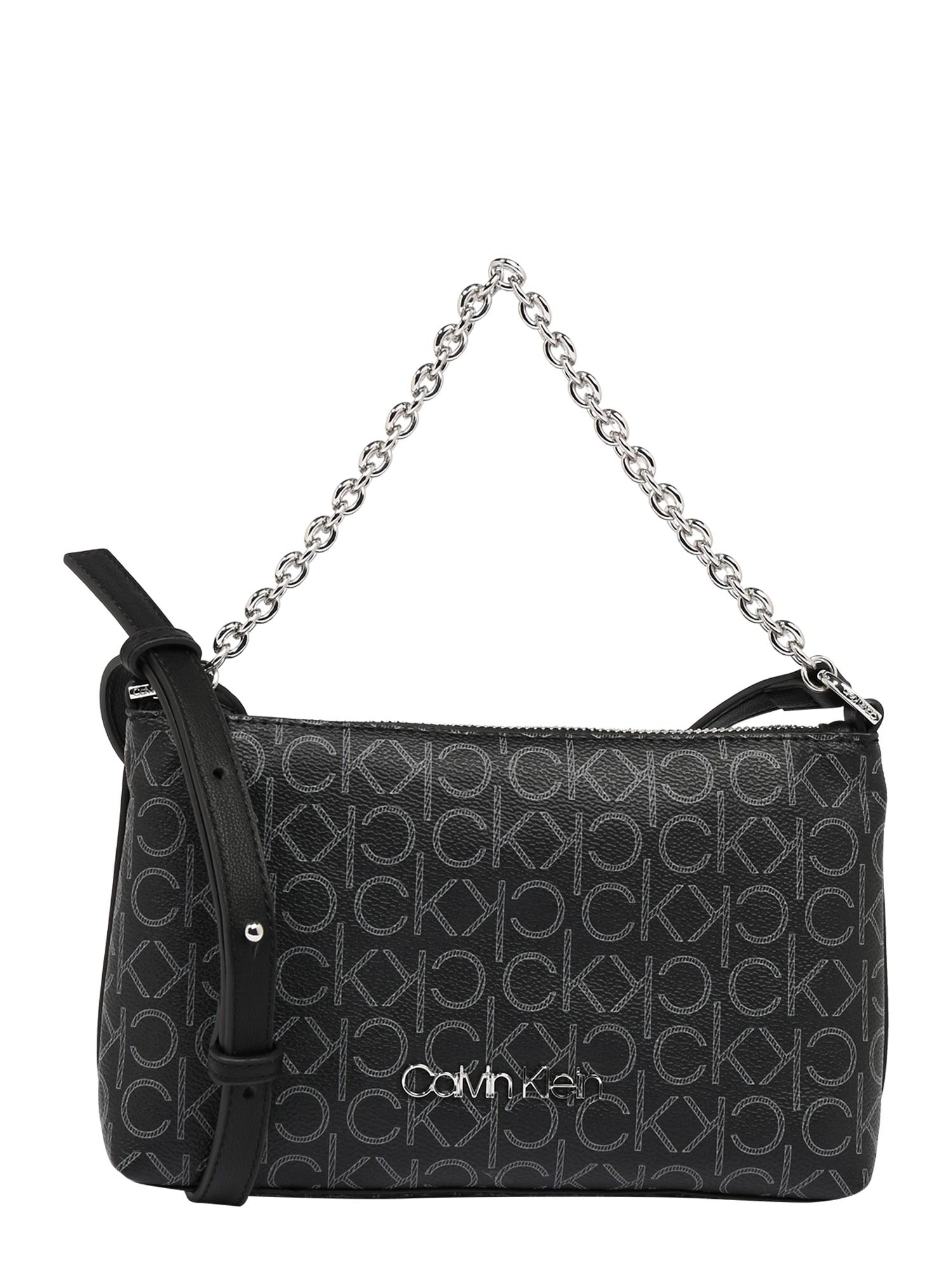 Calvin Klein Taška cez rameno  sivá / čierna