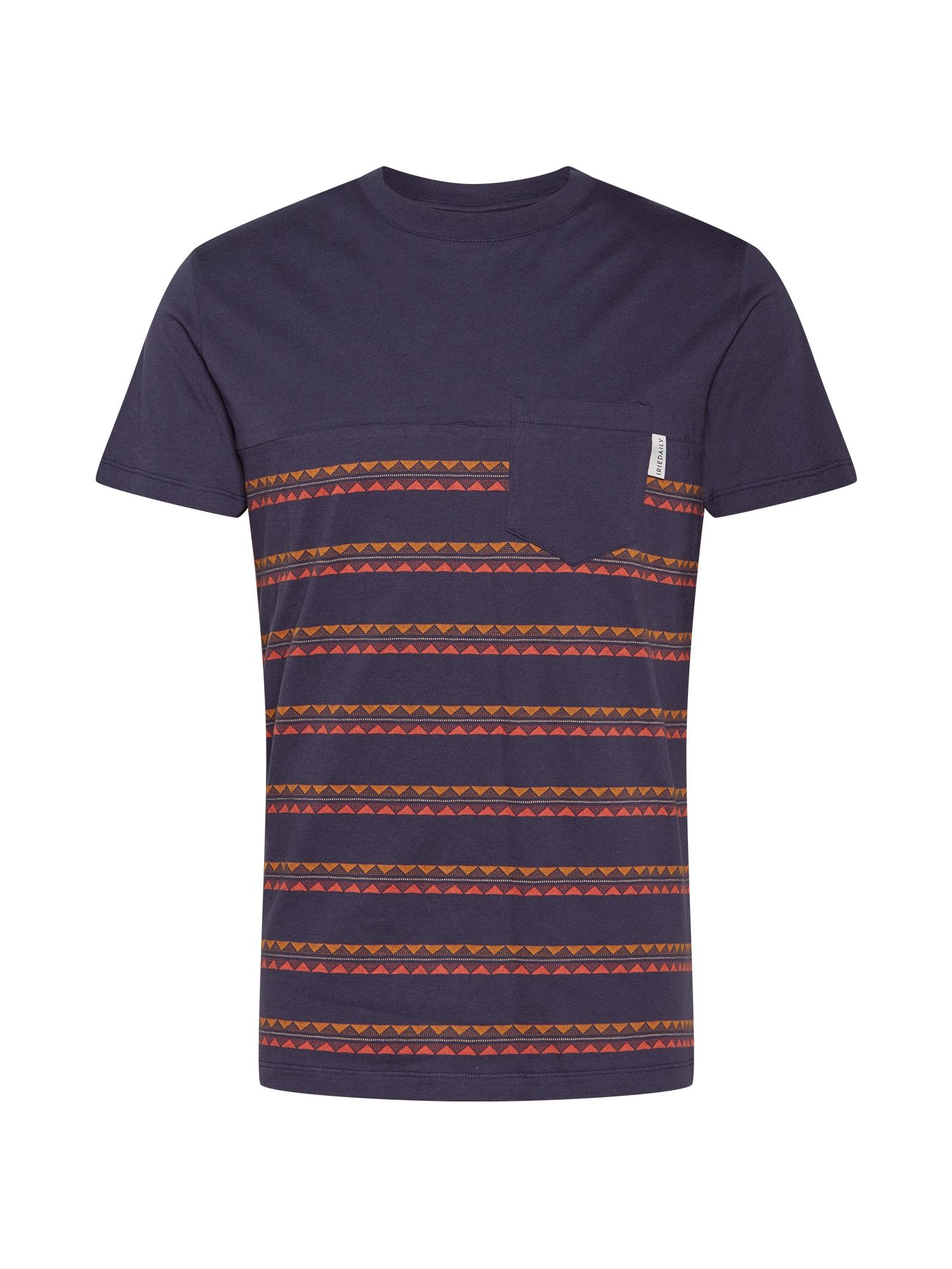 Iriedaily Marškinėliai 'Monte Noe' oranžinė / tamsiai mėlyna / šviesiai raudona