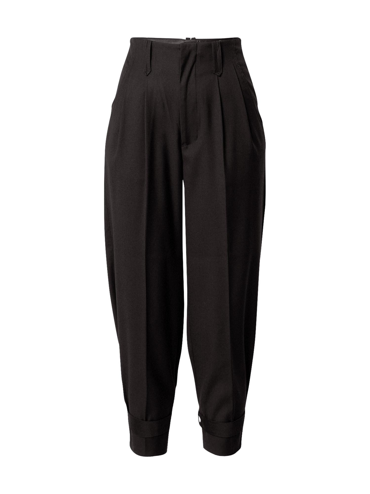 Aligne Kalhoty se sklady v pase 'Aida'  černá