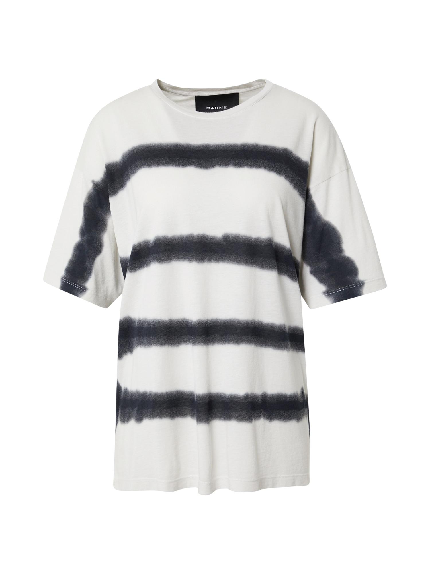 RAIINE Marškinėliai kremo / juoda