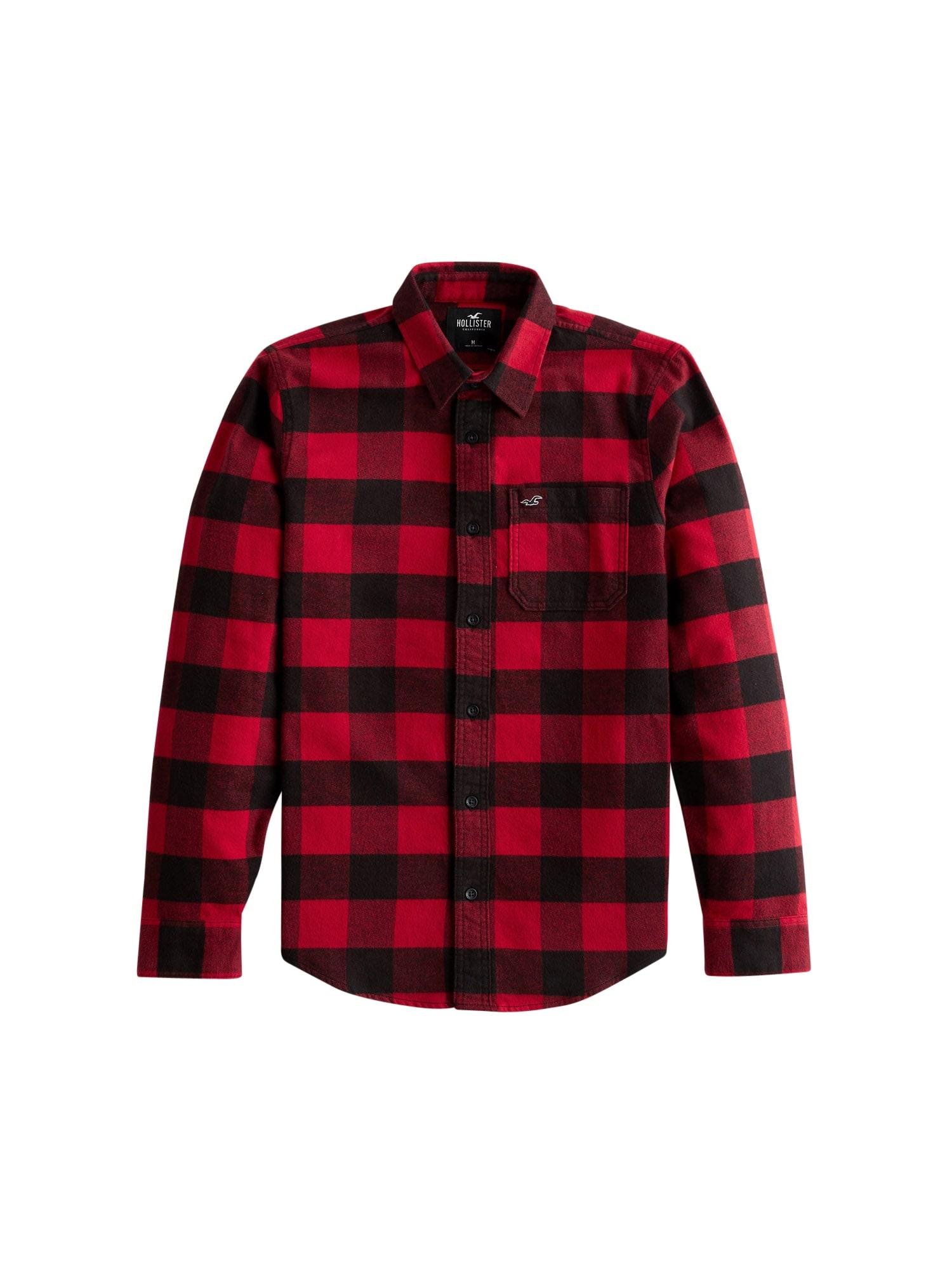 HOLLISTER Marškiniai raudona / juoda