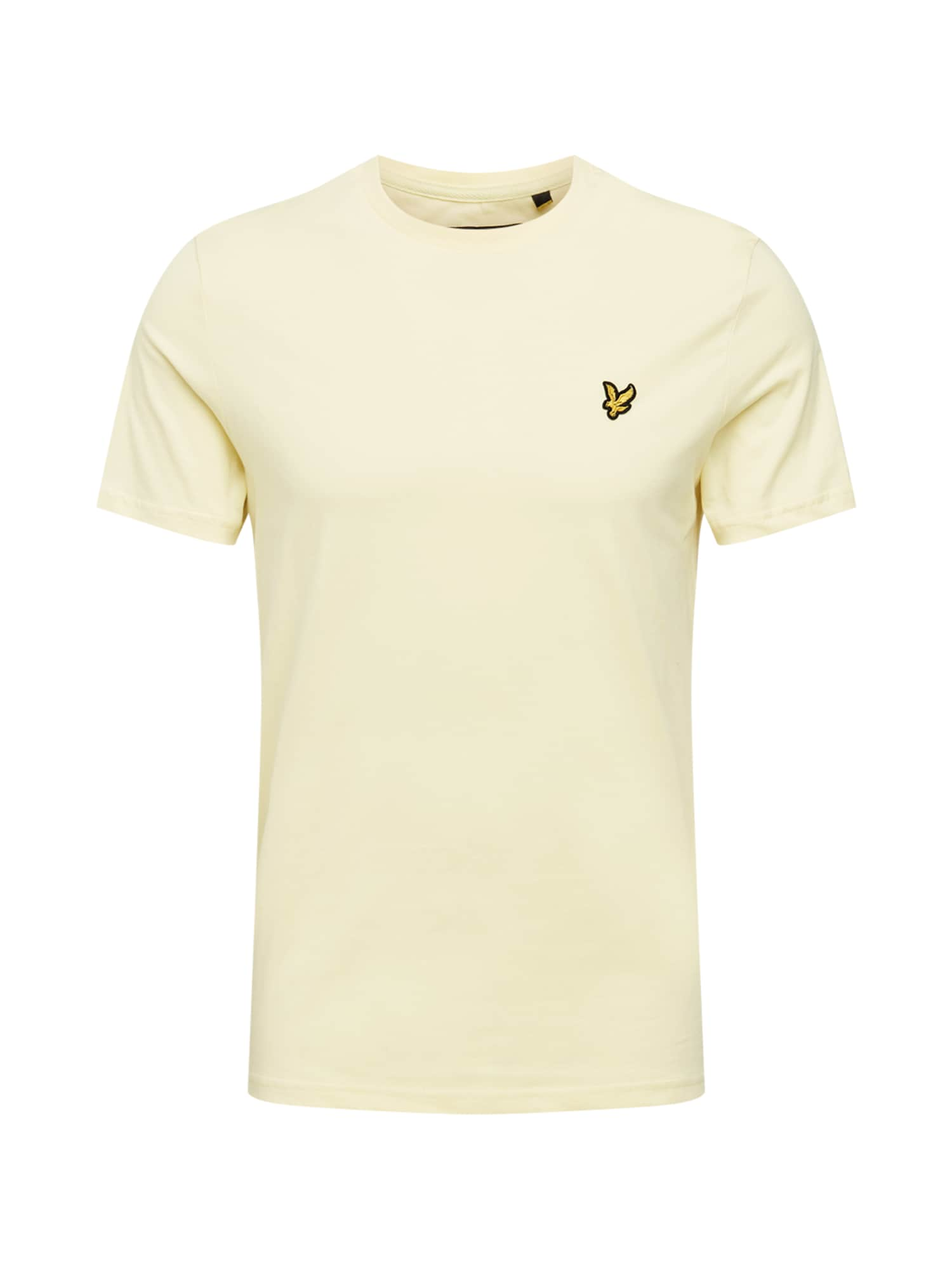 Lyle & Scott Marškinėliai pastelinė geltona