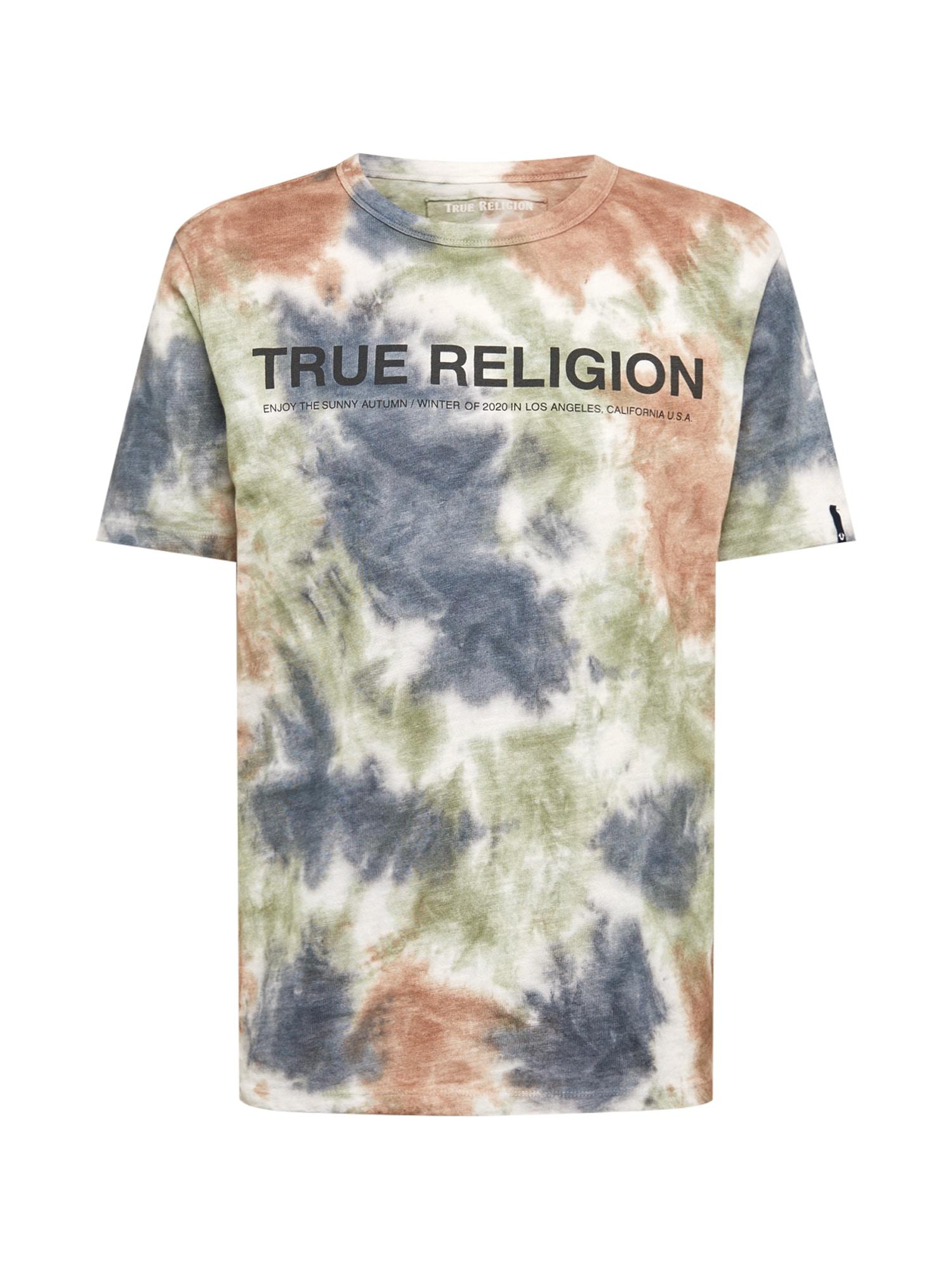 True Religion Tričko  bílá / červená / modrá