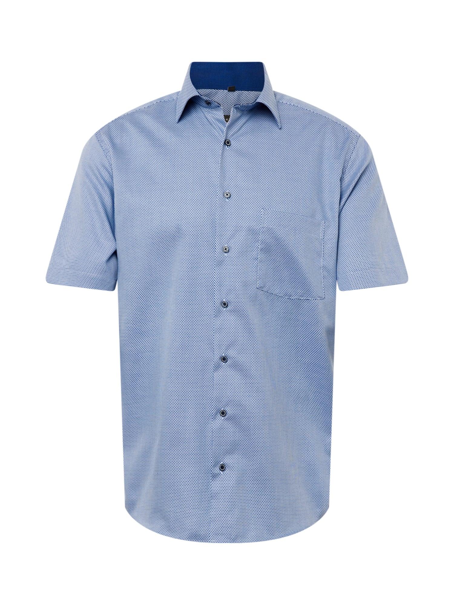 ETERNA Marškiniai melsvai pilka / balta