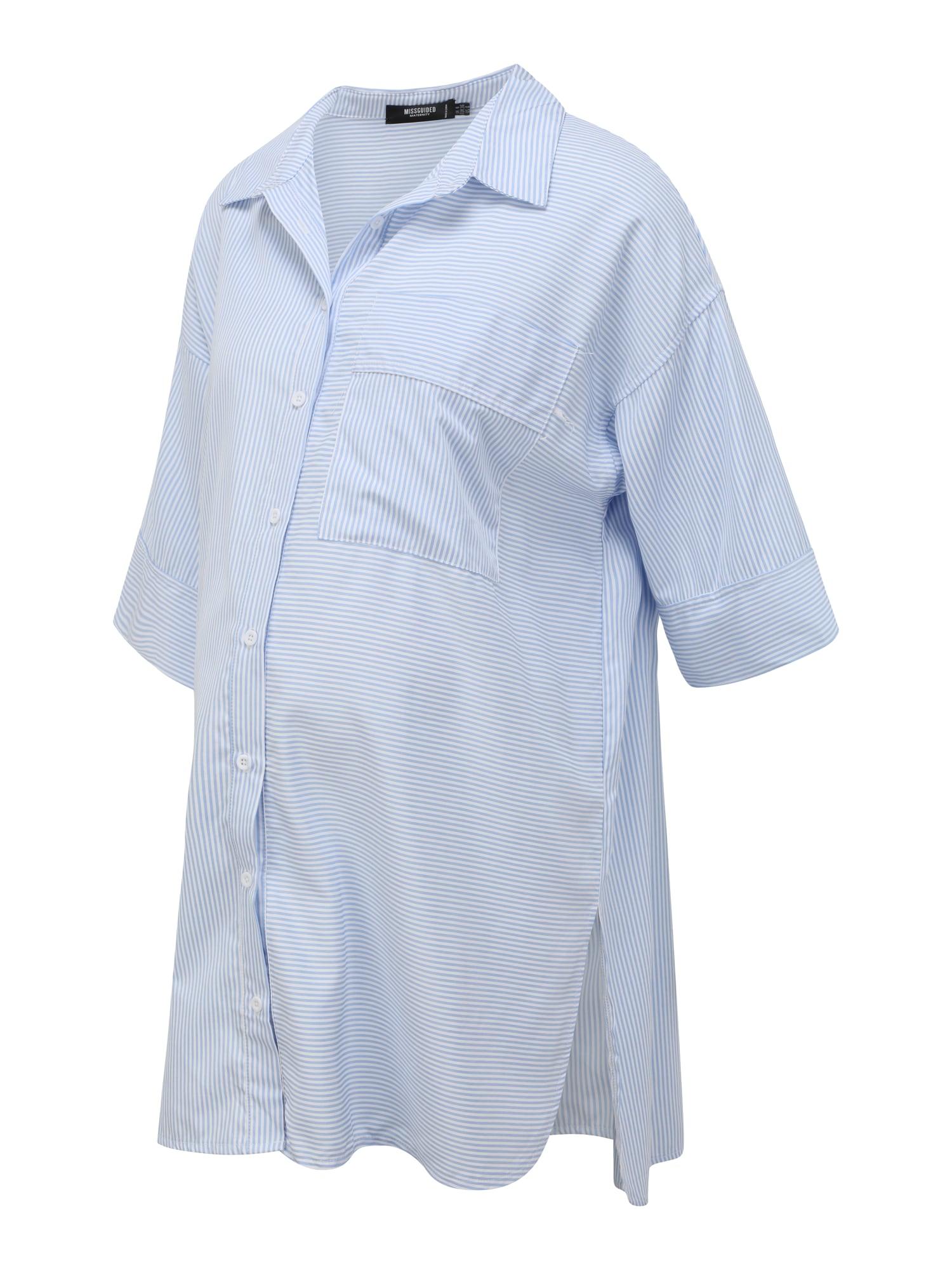 Missguided Maternity Palaidinės tipo suknelė šviesiai mėlyna / balta