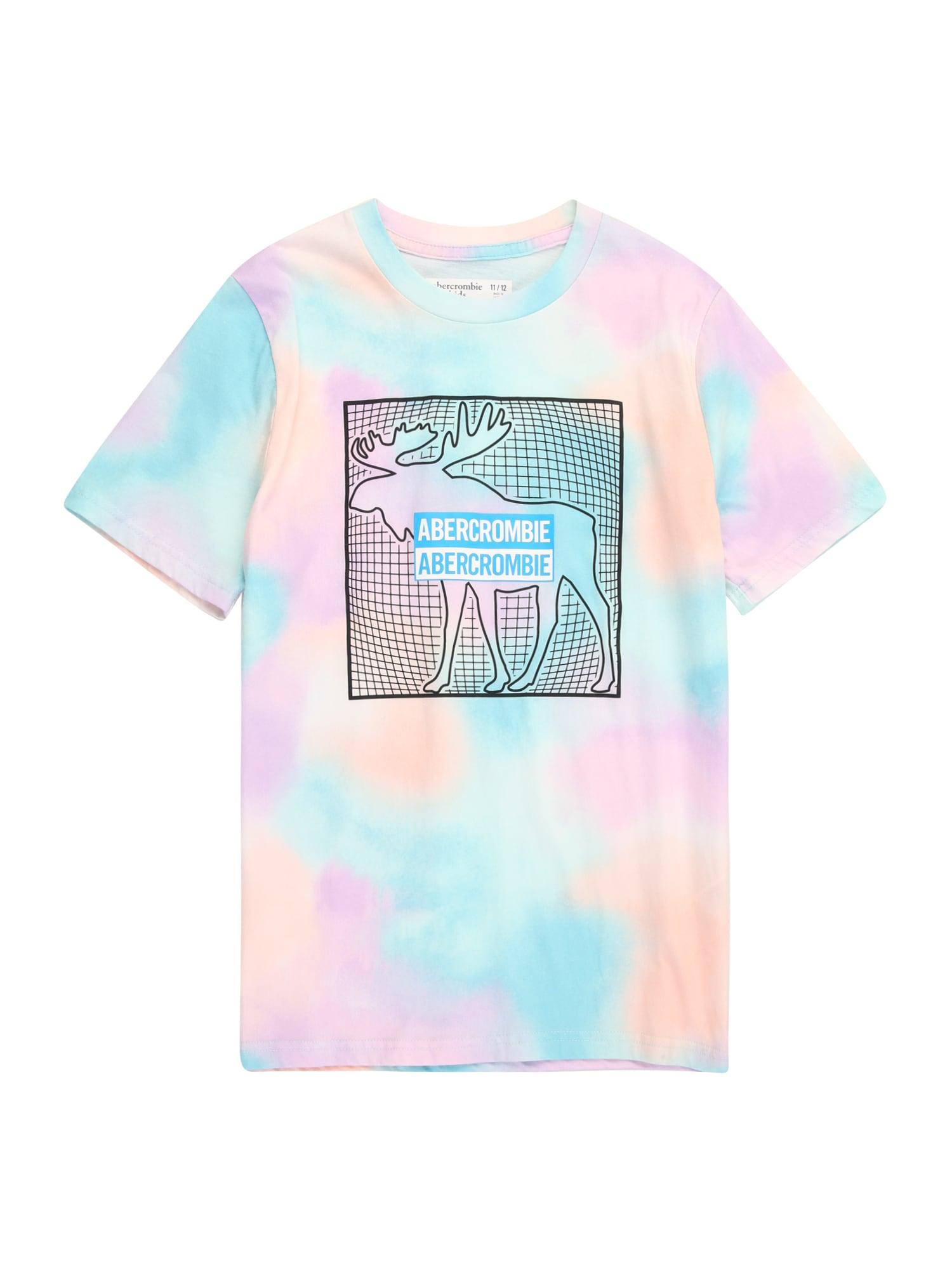 Abercrombie & Fitch Marškinėliai mėlyna / mišrios spalvos