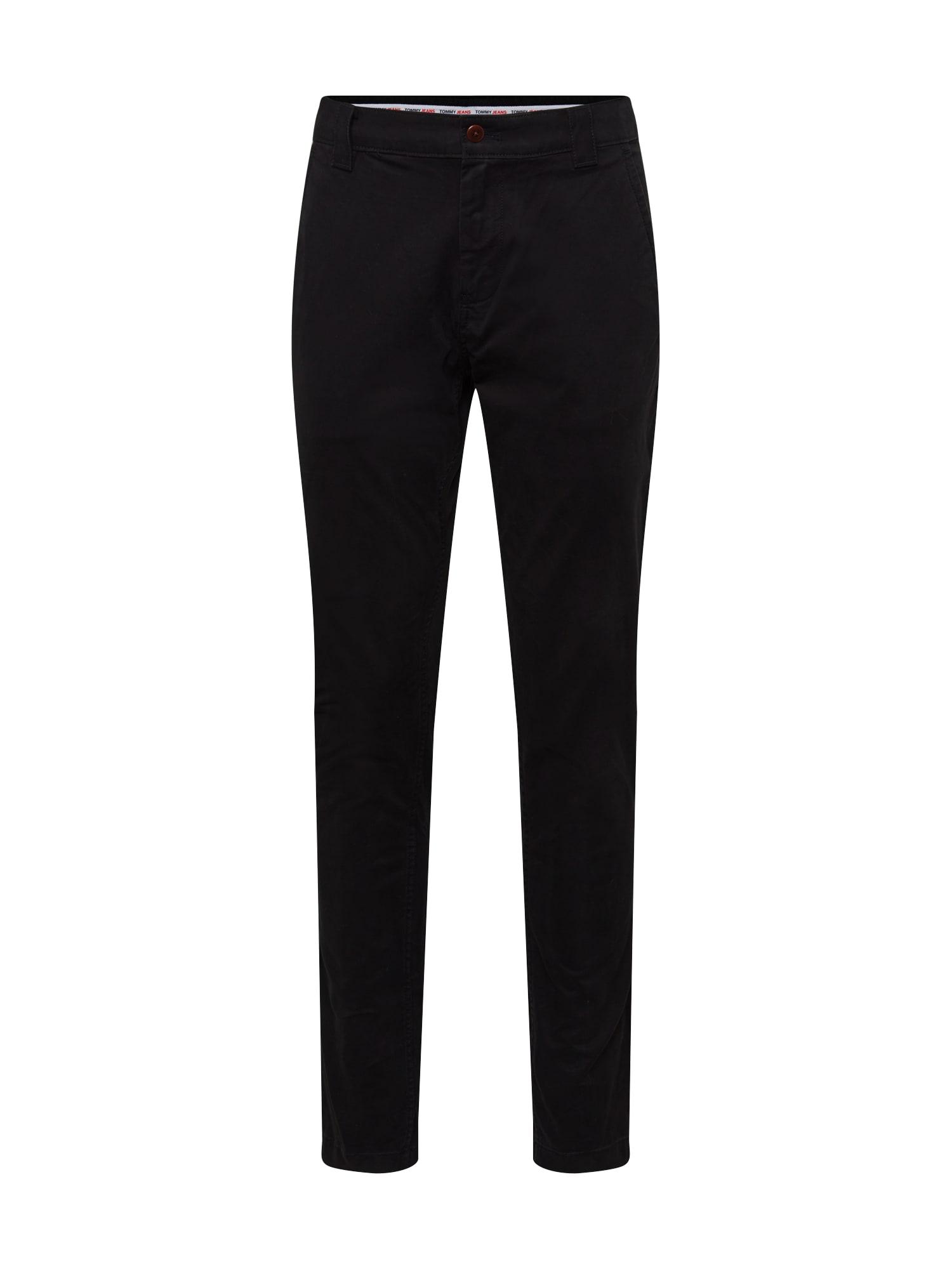 Tommy Jeans Chino kalhoty 'SCANTON'  černá