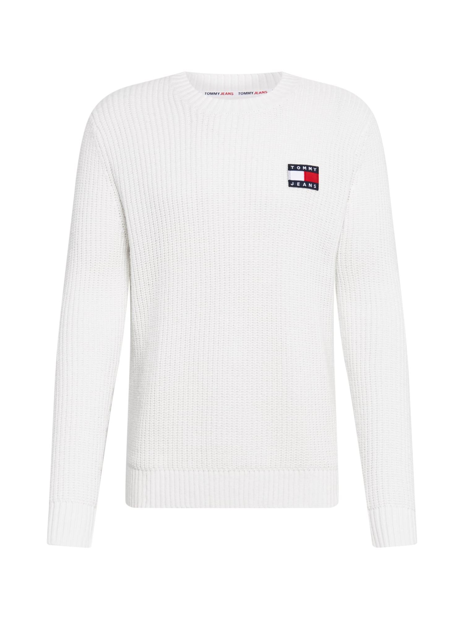 Tommy Jeans Svetr  přírodní bílá / červená / námořnická modř
