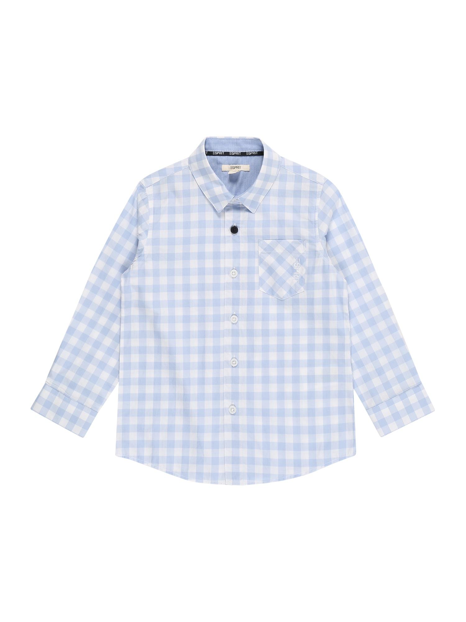 ESPRIT Marškiniai pastelinė mėlyna / balta