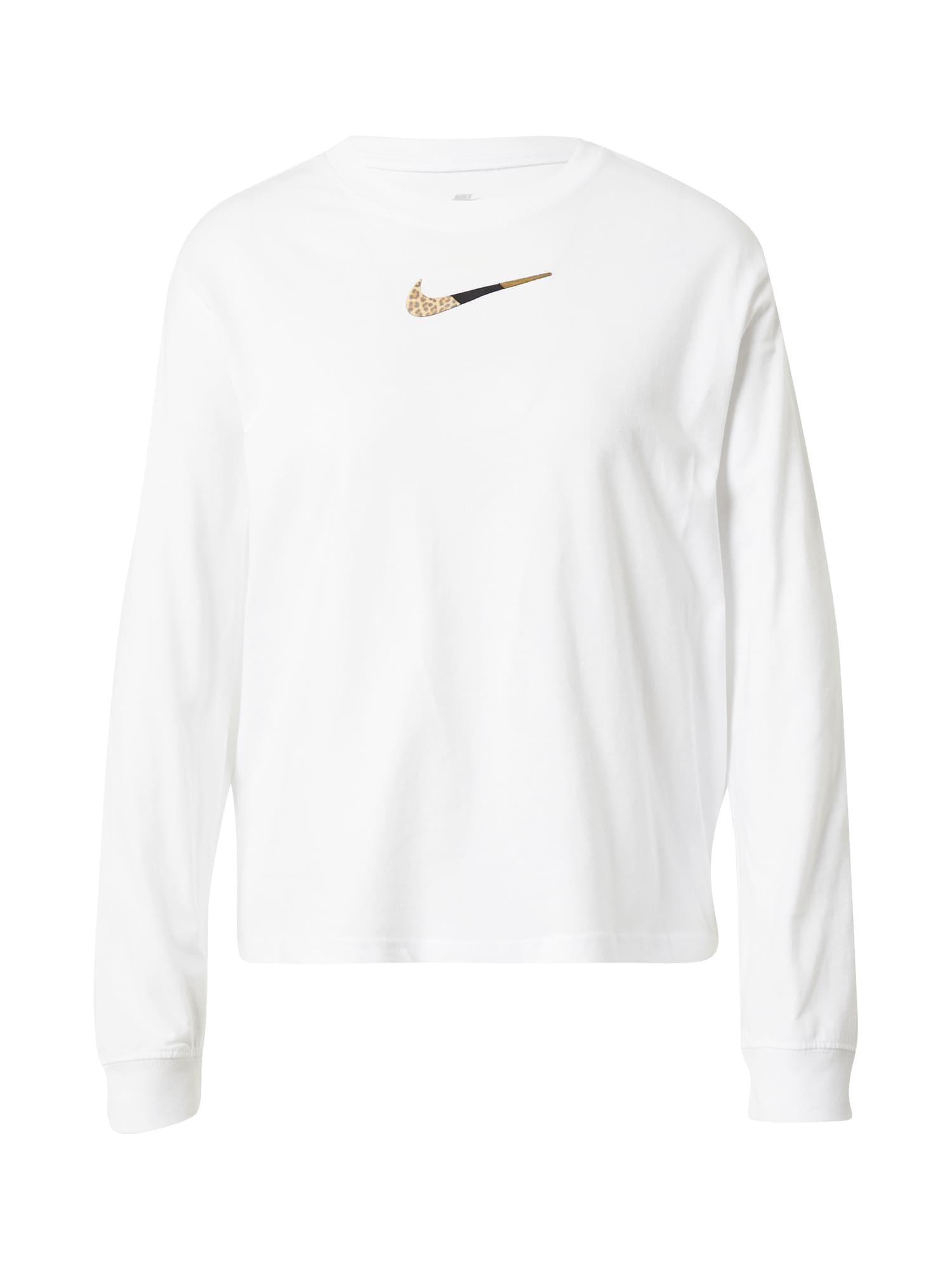 Nike Sportswear Tričko  biela / čierna / béžová / piesková