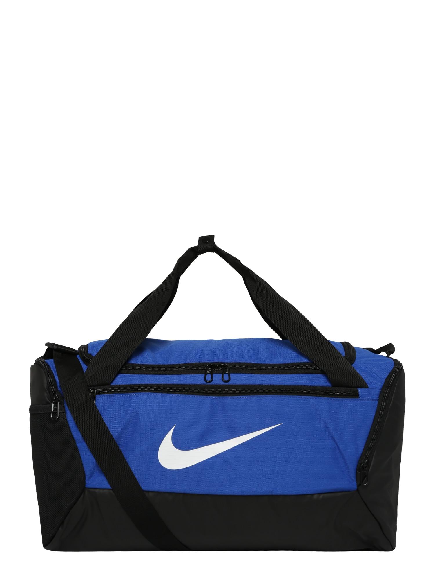 NIKE Sportovní taška  modrá / černá / bílá