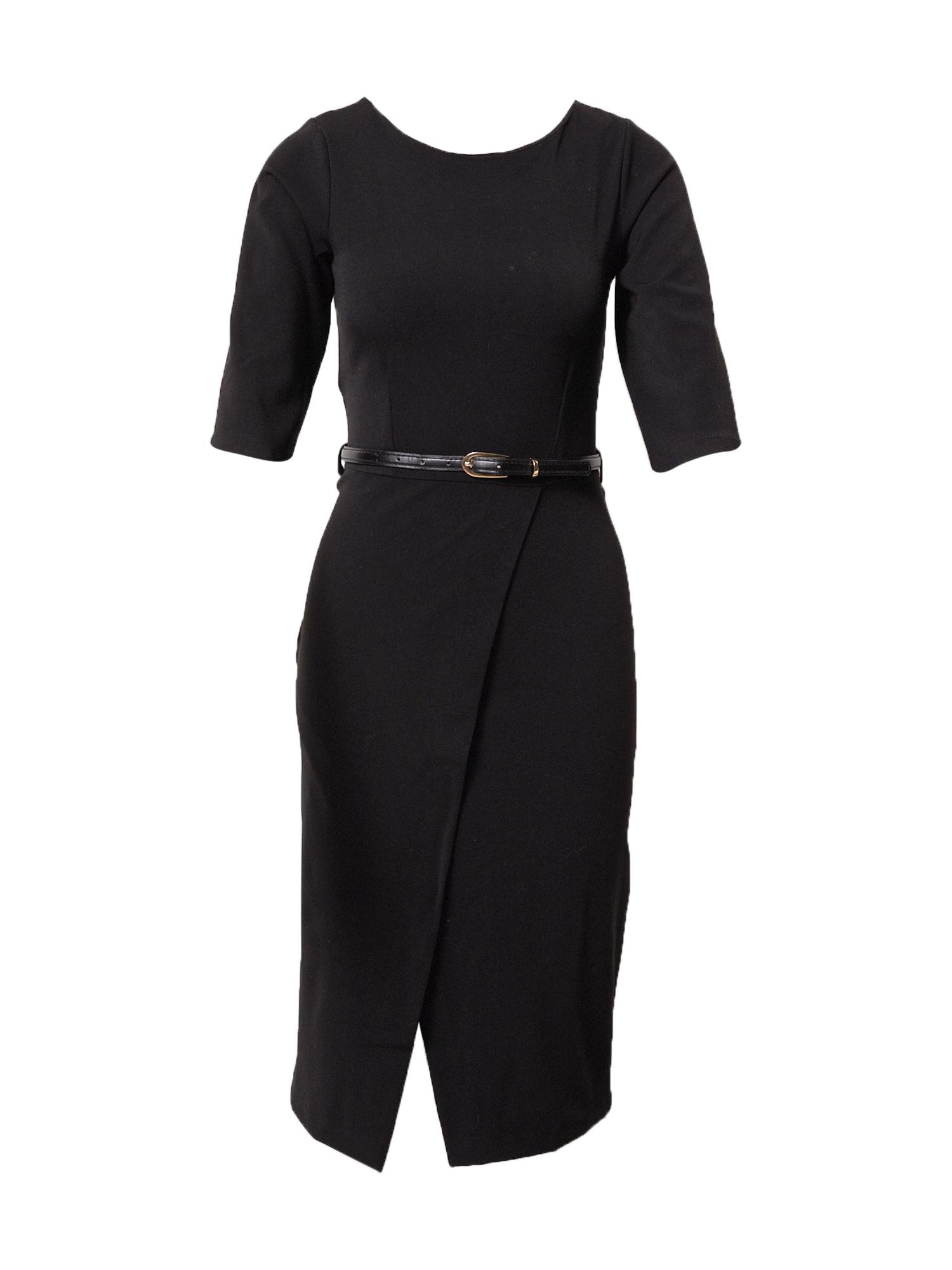 Closet London Trumpa kokteilinė suknelė juoda