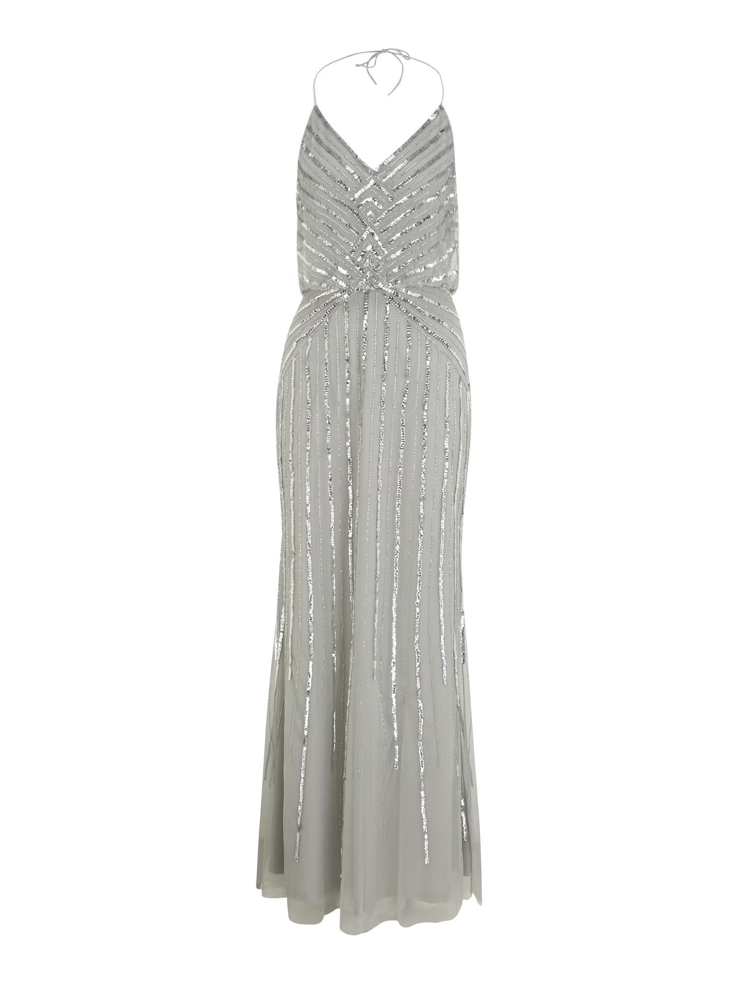 Hailey Logan Vakarinė suknelė sidabro pilka