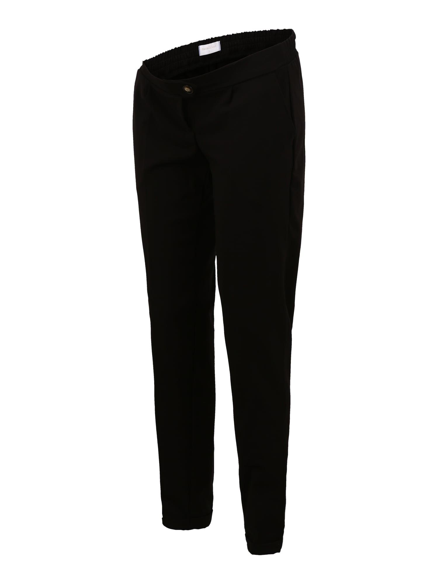 MAMALICIOUS Kelnės su kantu juoda