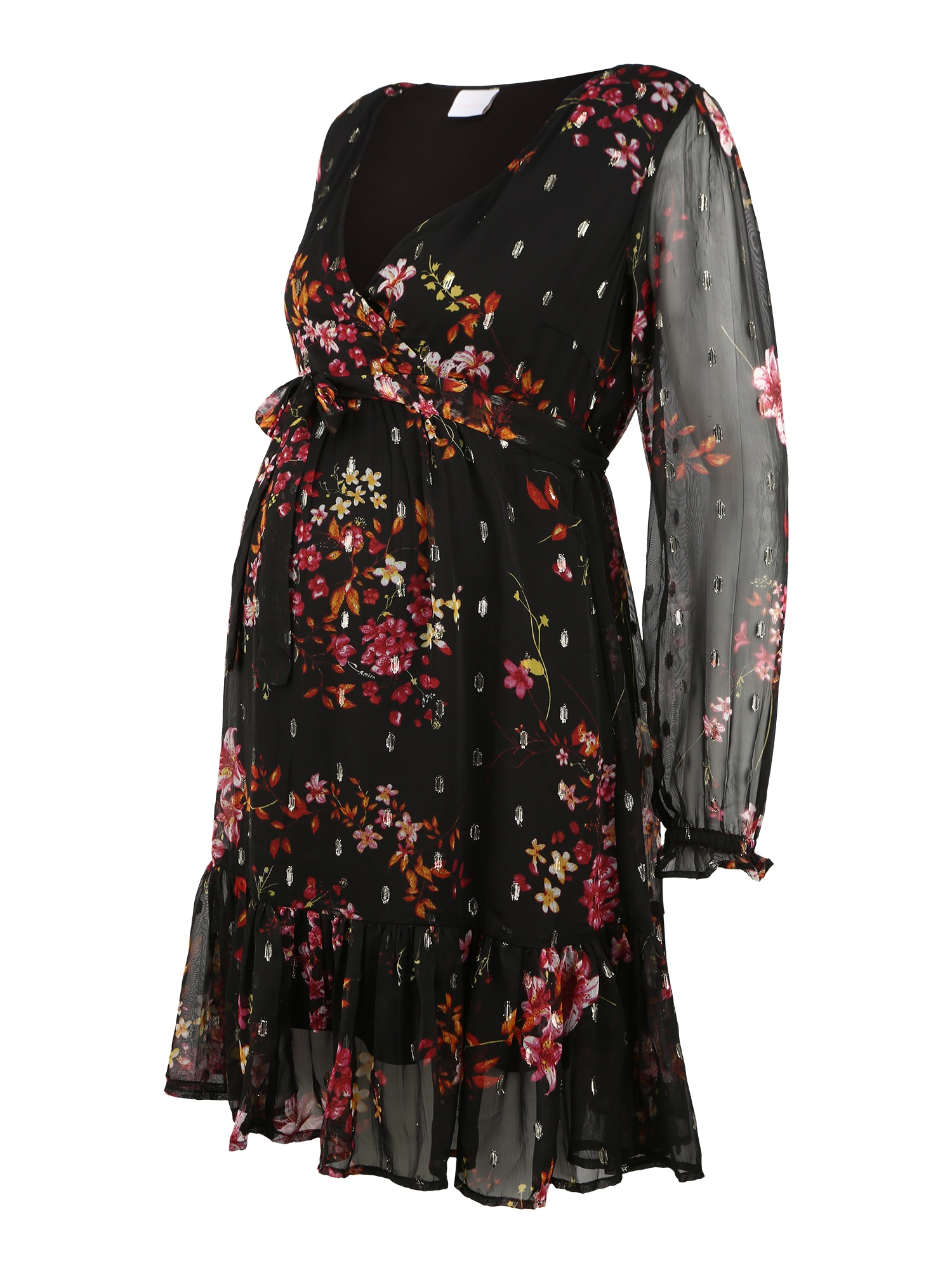 MAMALICIOUS Suknelė juoda / mišrios spalvos