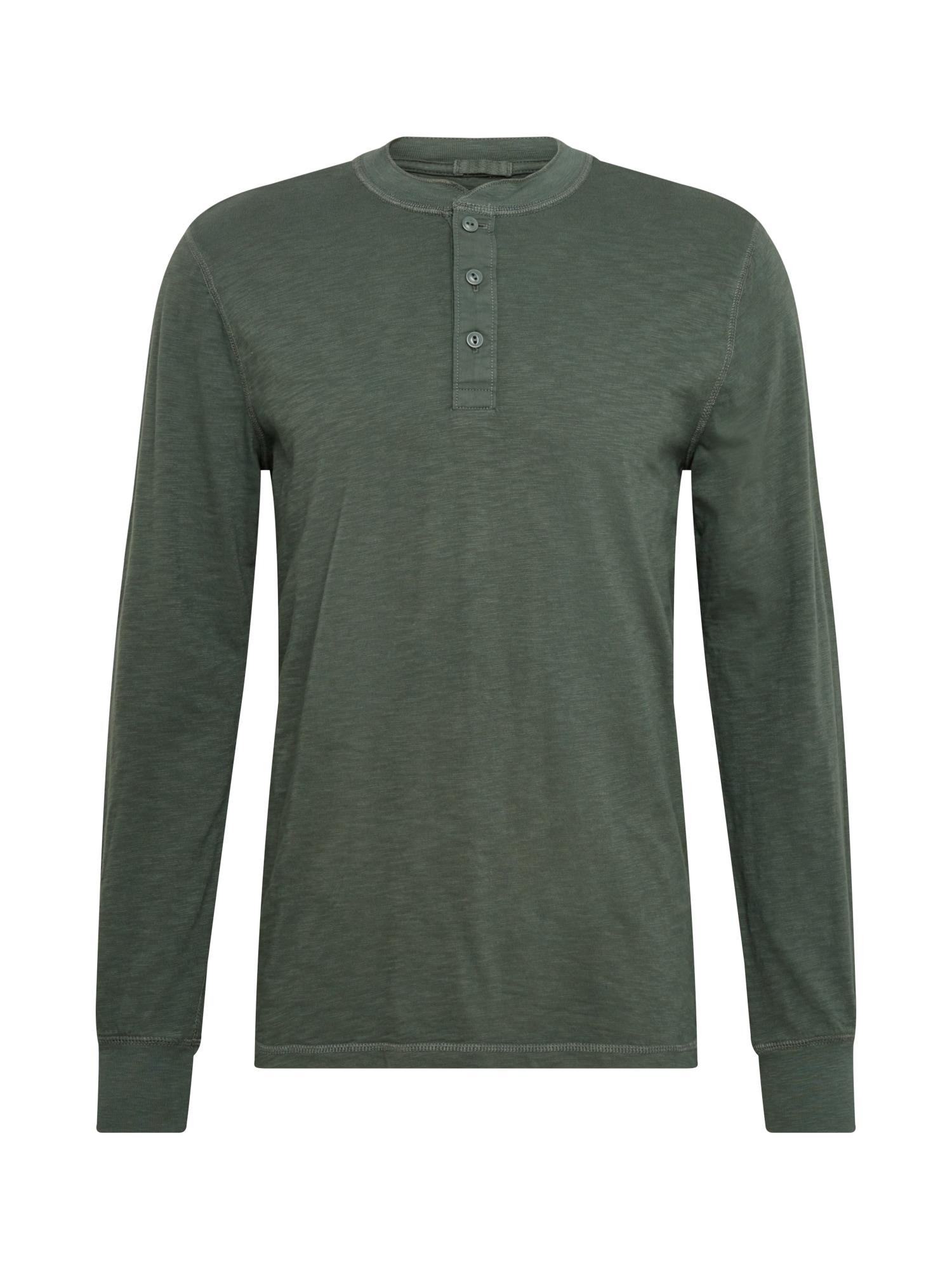 GAP Marškinėliai tamsiai žalia / marga smėlio spalva