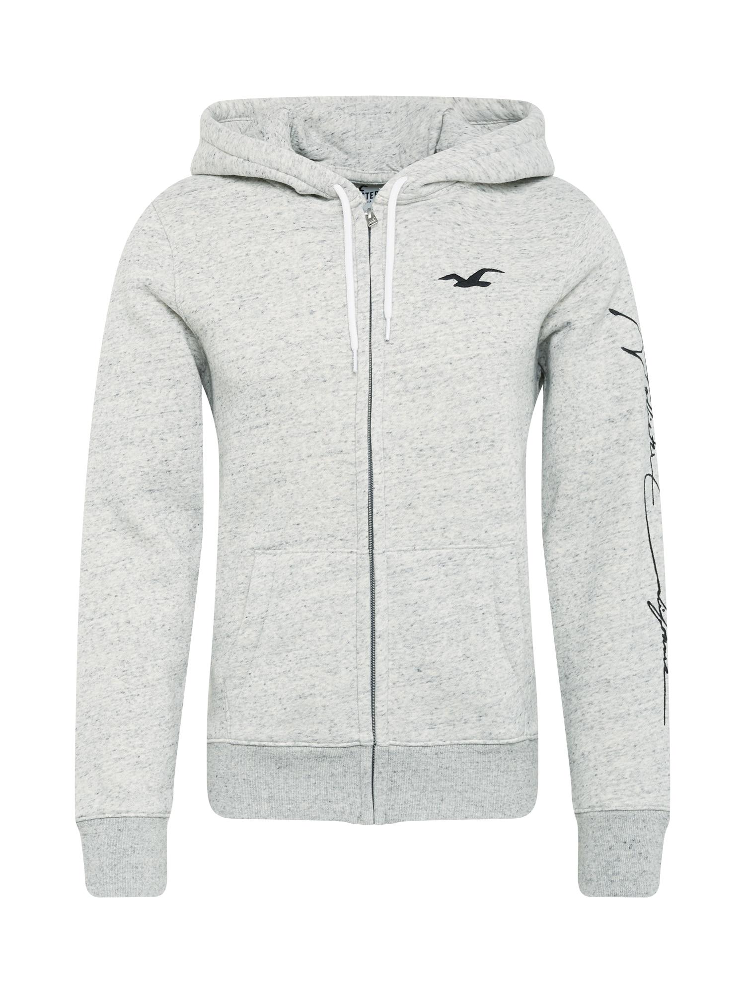 HOLLISTER Džemperis margai pilka / juoda