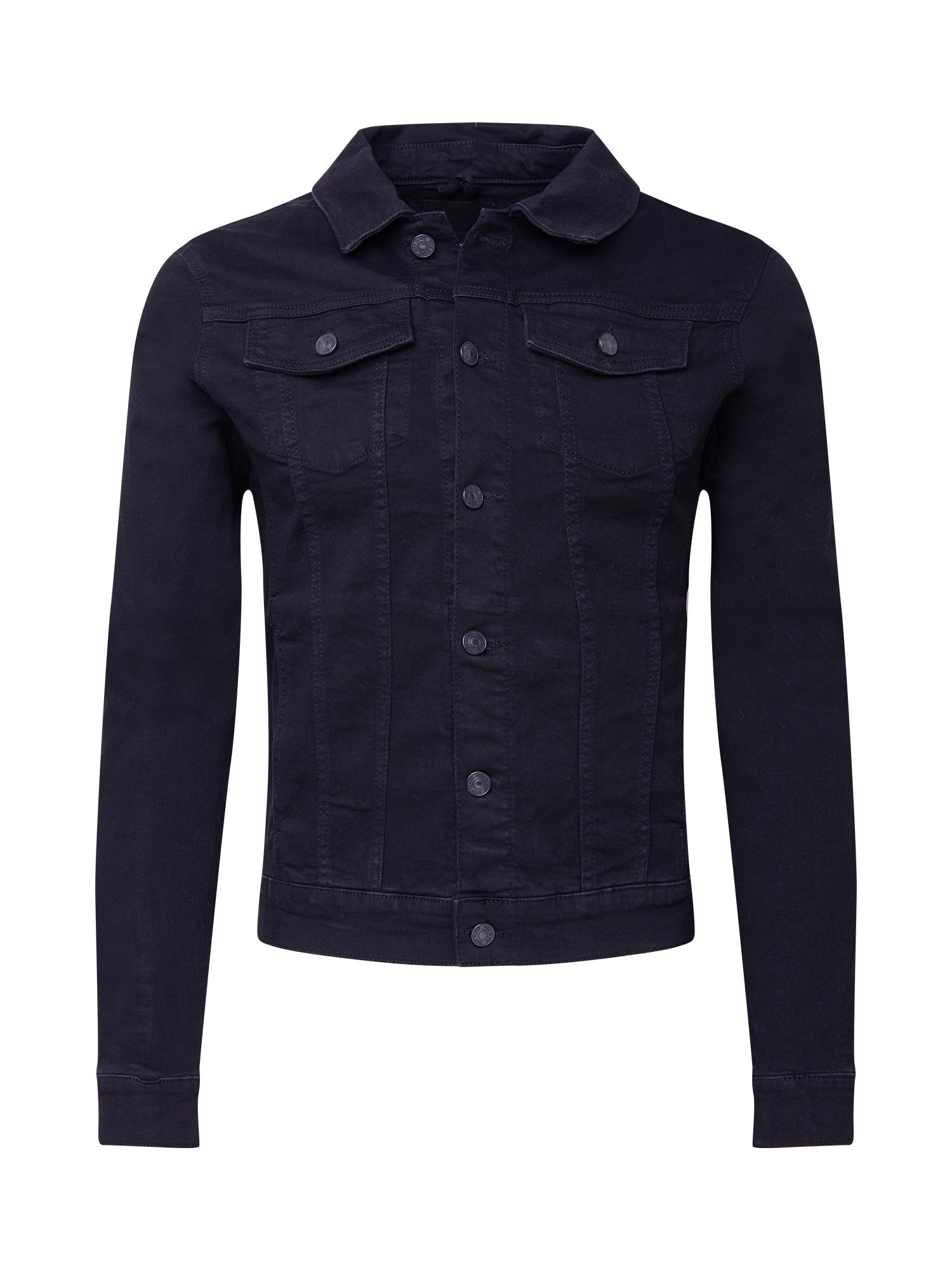 River Island Demisezoninė striukė juodo džinso spalva