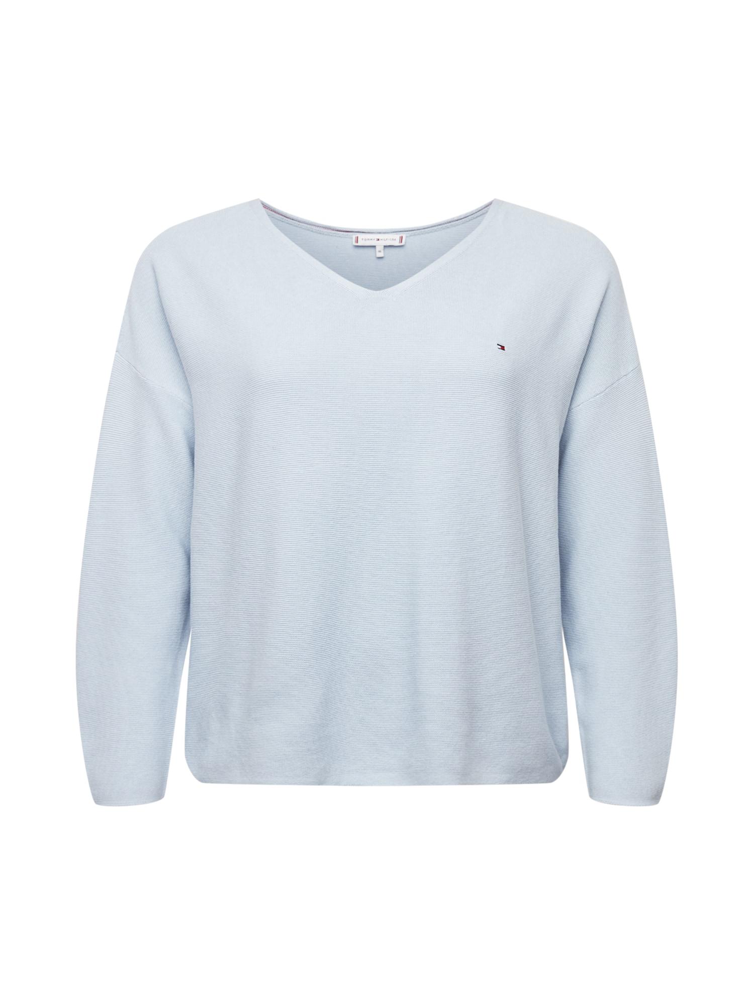 Tommy Hilfiger Curve Megztinis šviesiai mėlyna
