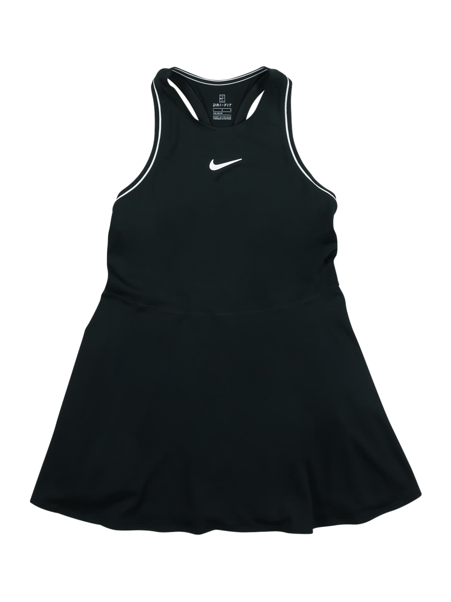 NIKE Sportinė suknelė juoda / balta