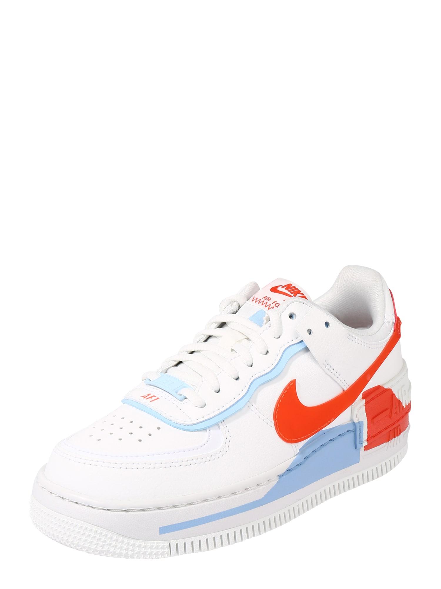 Nike Sportswear Tenisky 'Force 1 Shadow SE'  oranžová / bílá / světlemodrá