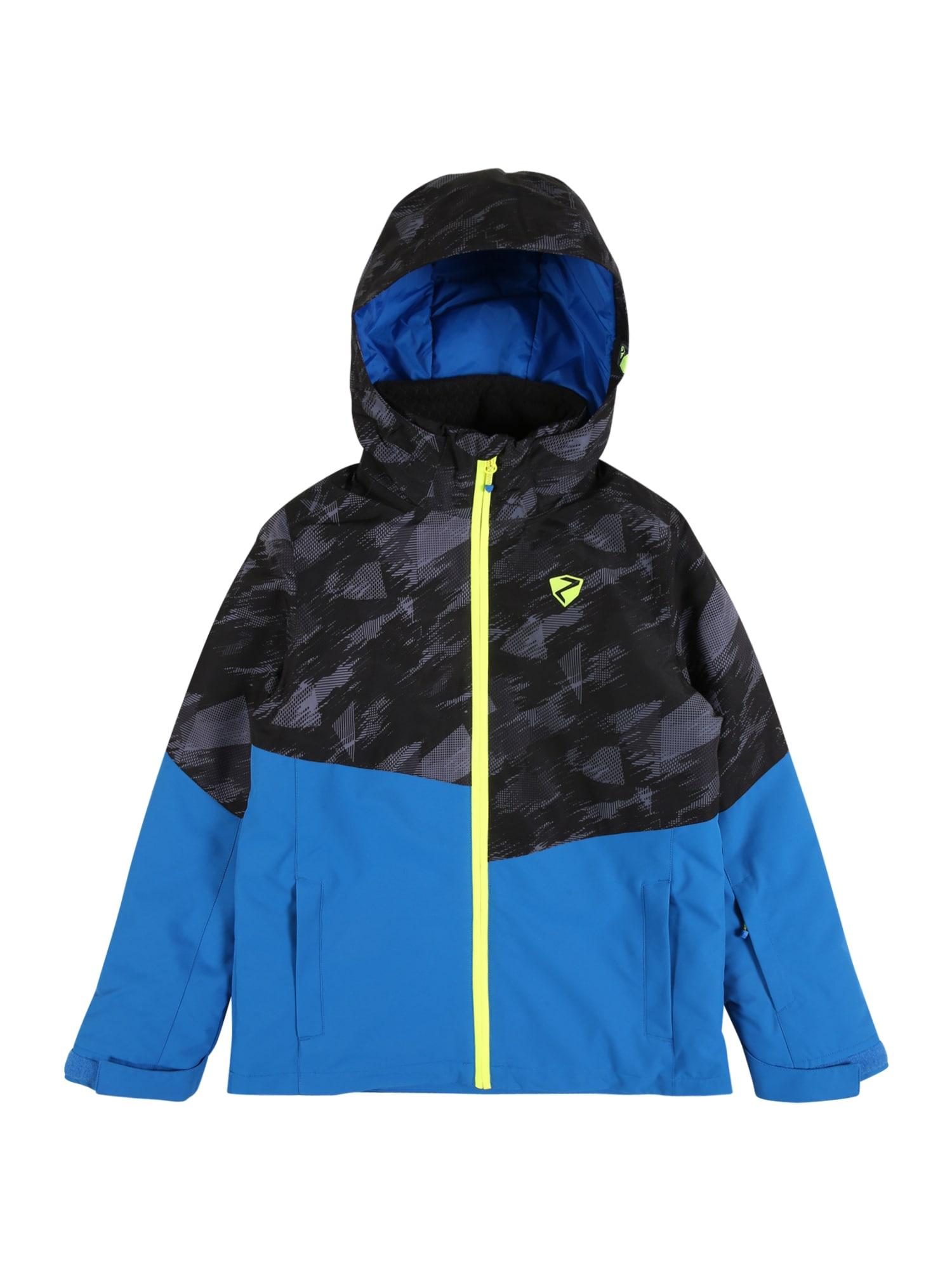 ZIENER Sportovní bunda 'ABIA'  šedá / modrá