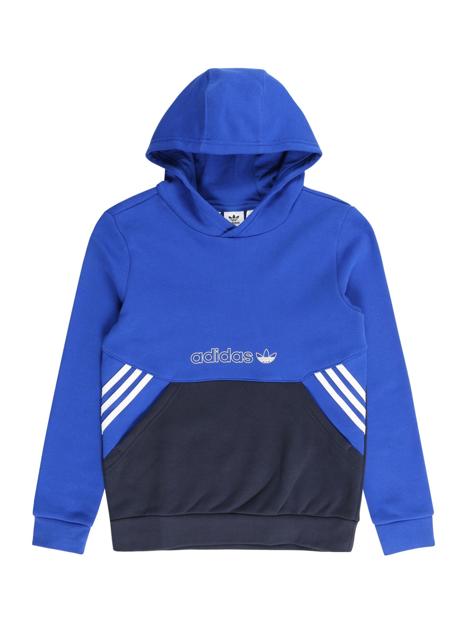 "ADIDAS ORIGINALS Megztinis be užsegimo ultramarino mėlyna (skaidri) / balta / sodri mėlyna (""karališka"")"