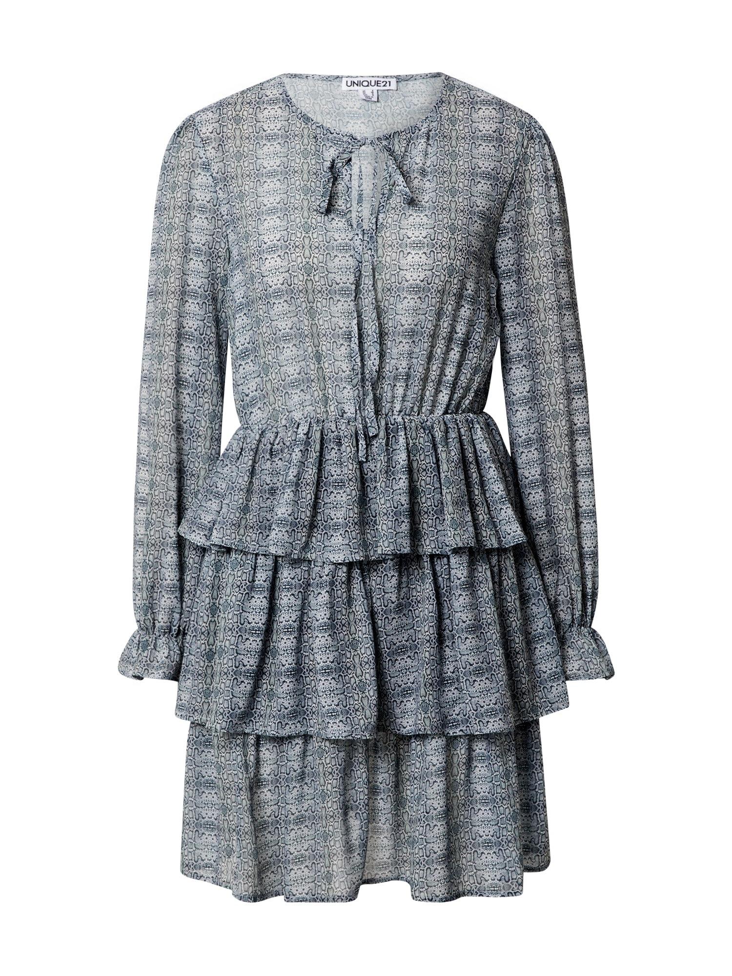 Unique21 Suknelė šviesiai pilka / tamsiai pilka