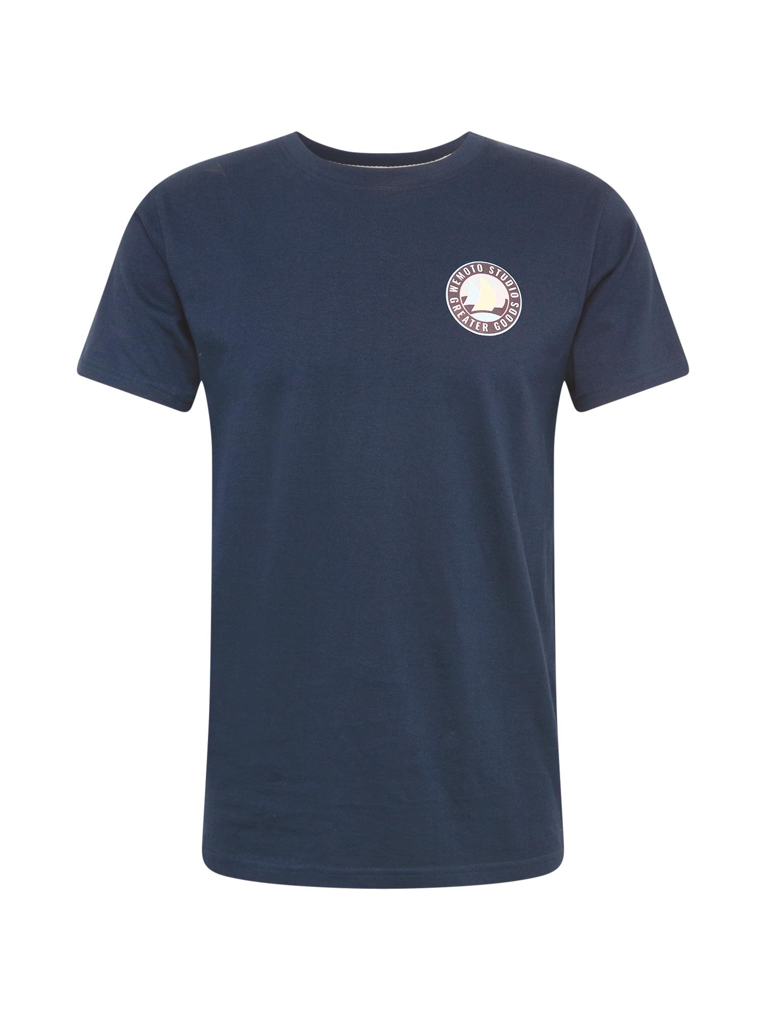 Wemoto Marškinėliai tamsiai mėlyna / šviesiai violetinė / šviesiai mėlyna