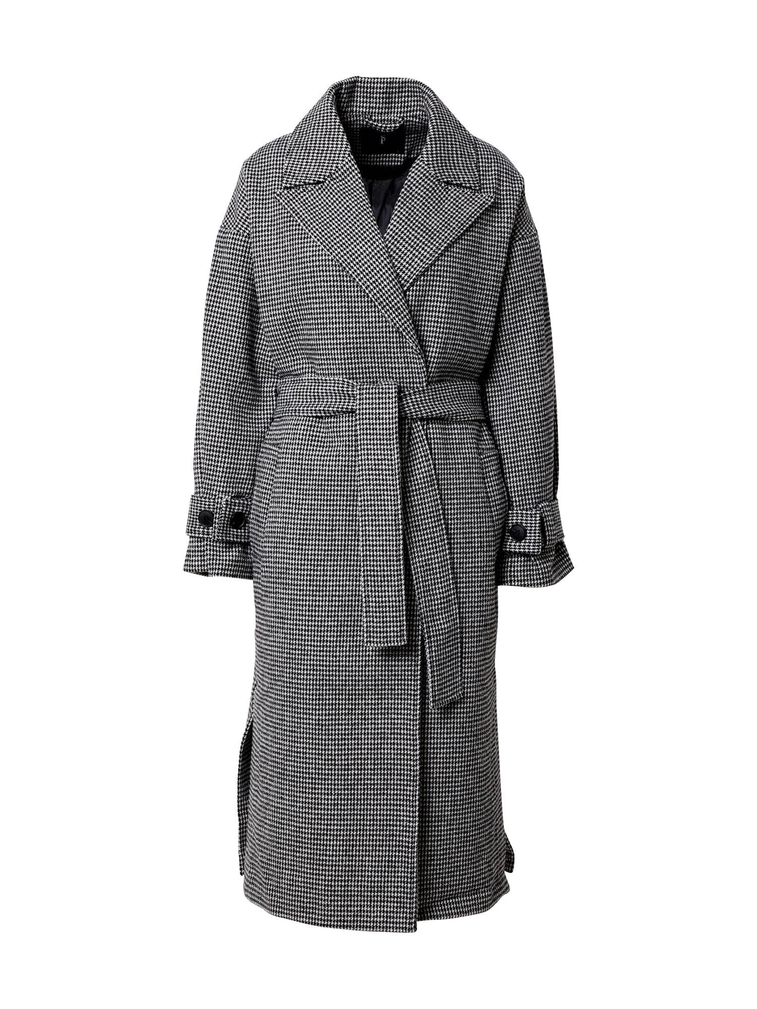 SISTERS POINT Demisezoninis paltas juoda / balta