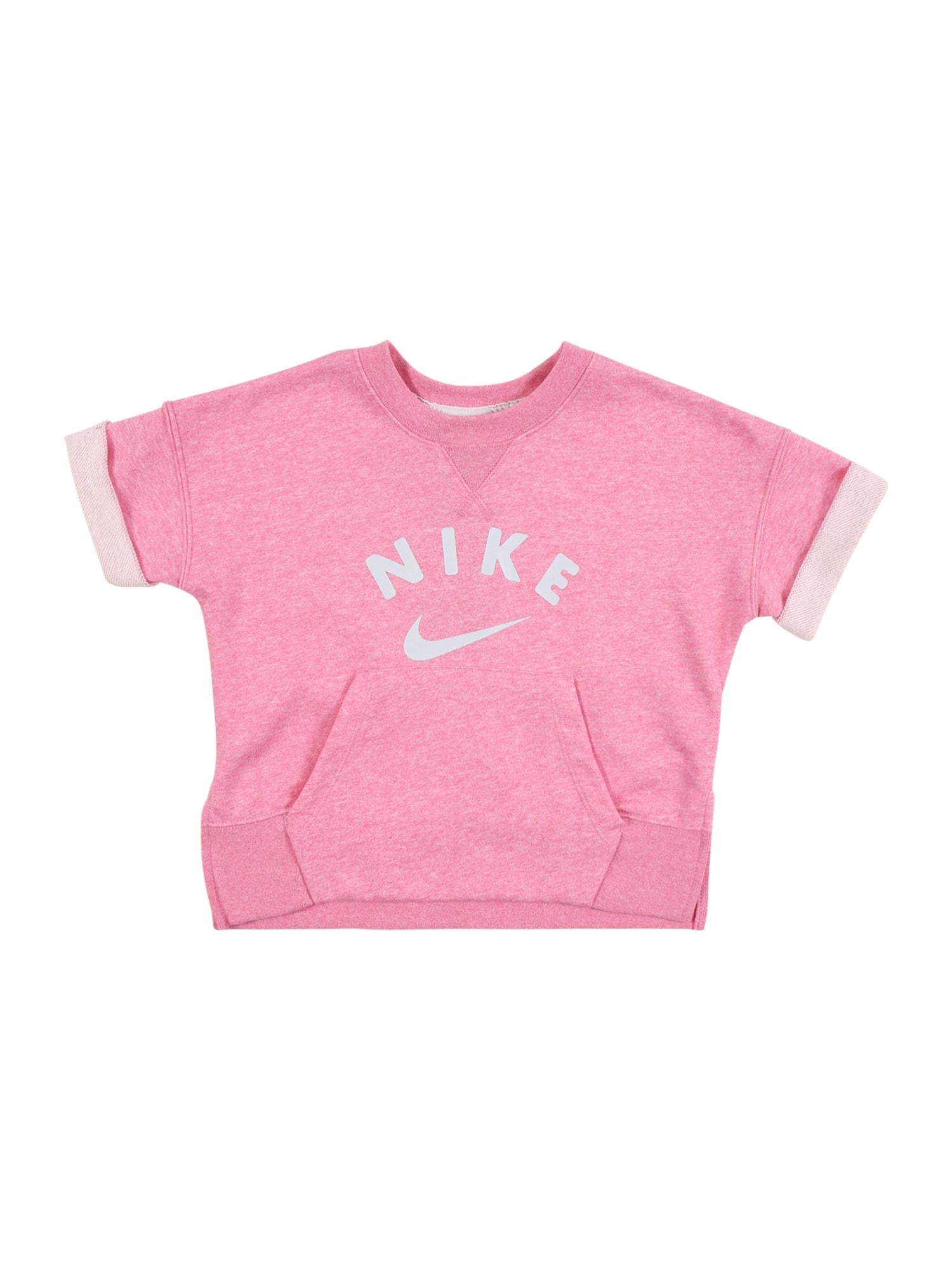Nike Sportswear Tričko  růžový melír / světle růžová
