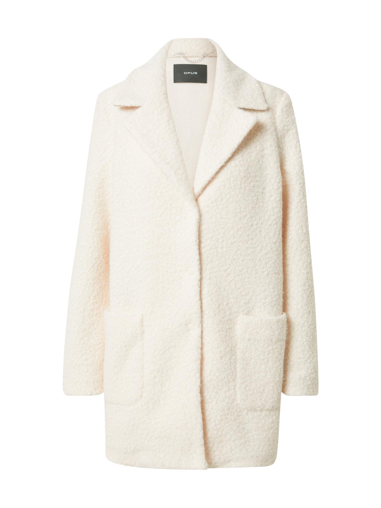 OPUS Přechodný kabát  krémová