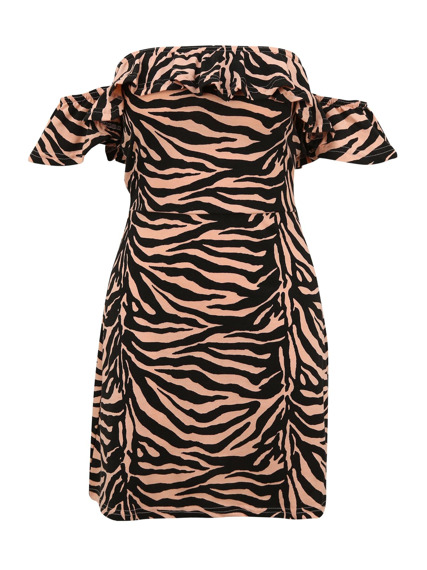 Missguided (Petite) Suknelė šviesiai oranžinė / juoda