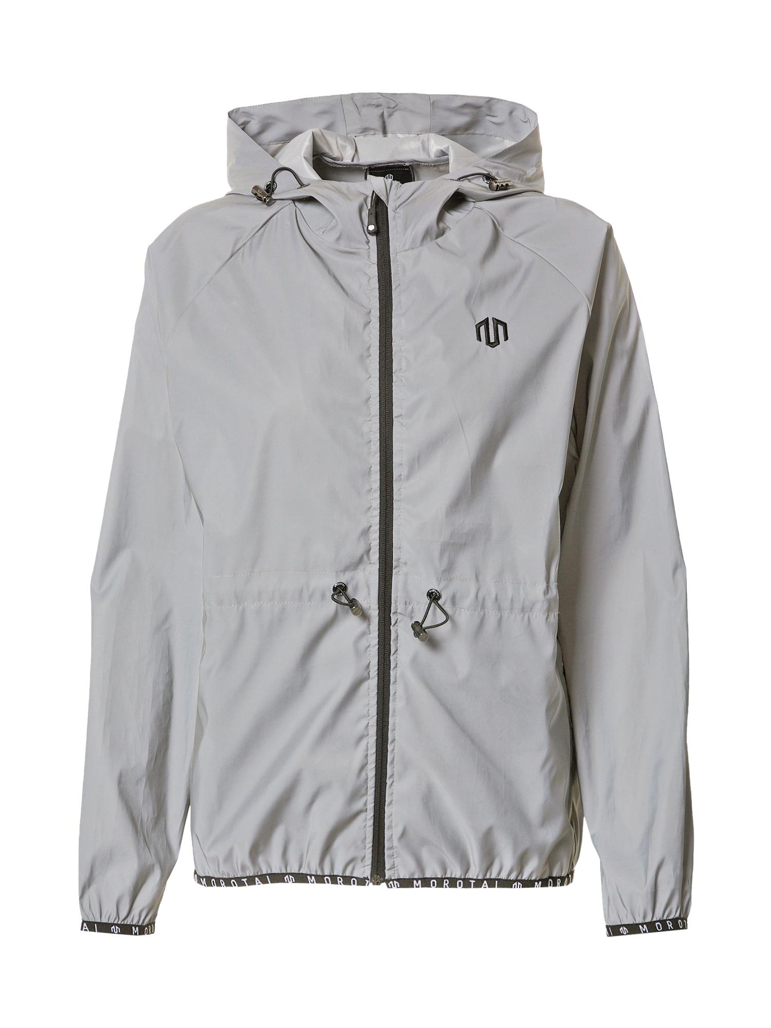 MOROTAI Outdoorová bunda 'Light Windbreaker 2.0'  šedá / černá