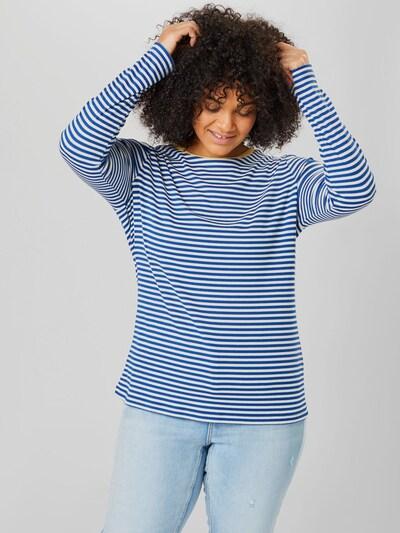 Only Carmakoma Tine Gestreiftes T-Shirt mit langen Ärmeln und Rundhalsausschnitt