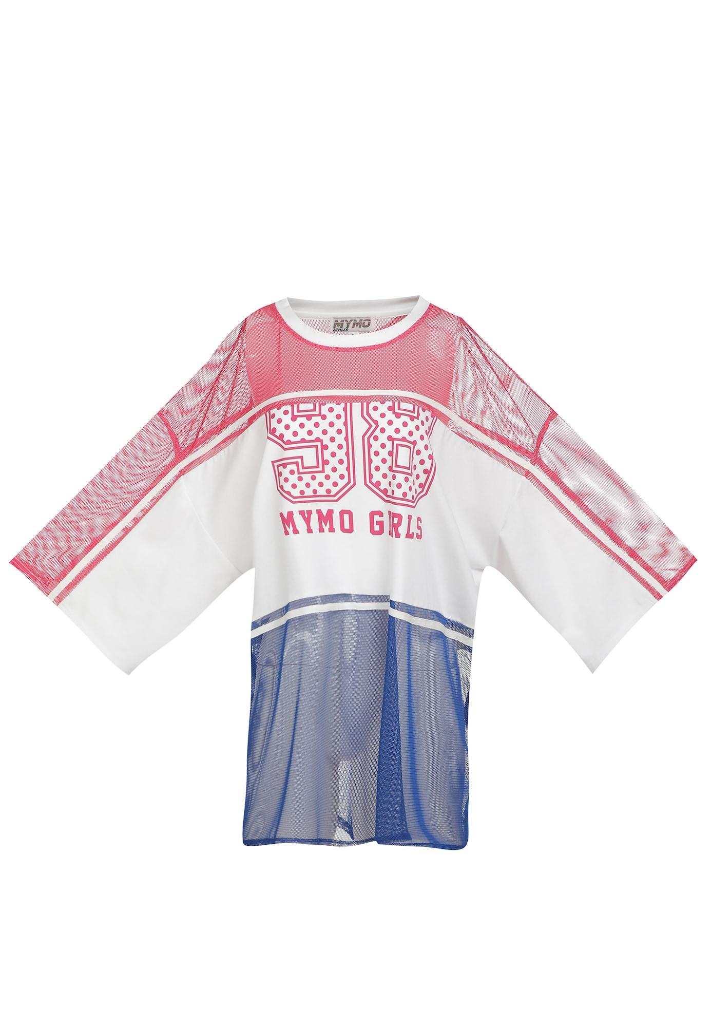 myMo ATHLSR Sportiniai marškinėliai natūrali balta / mėlyna / pitajų spalva / rožinė