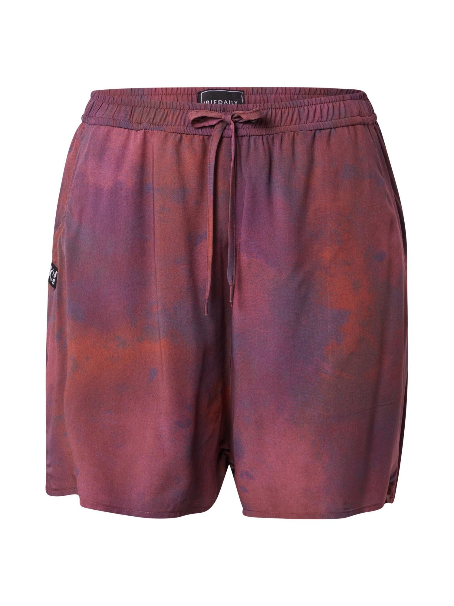 Iriedaily Kelnės raudonai violetinė / raudona / tamsiai violetinė