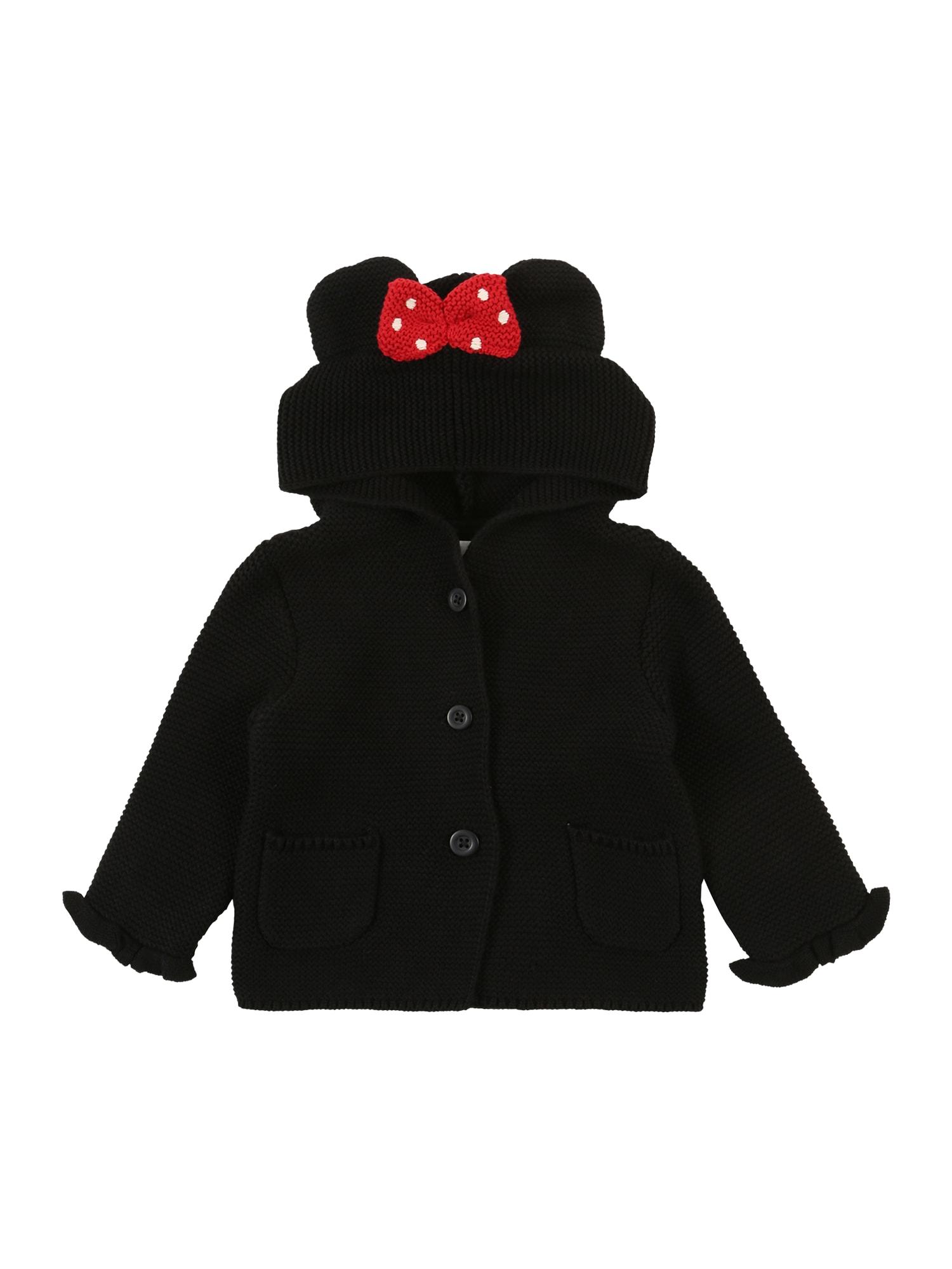 GAP Pletená bunda  černá / červená / bílá