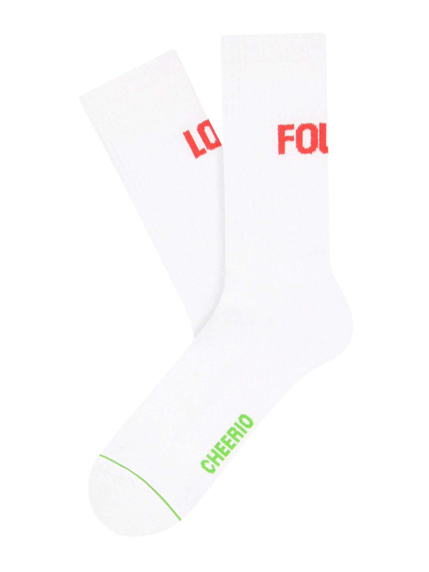 CHEERIO* Kojinės balta / raudona / žalia